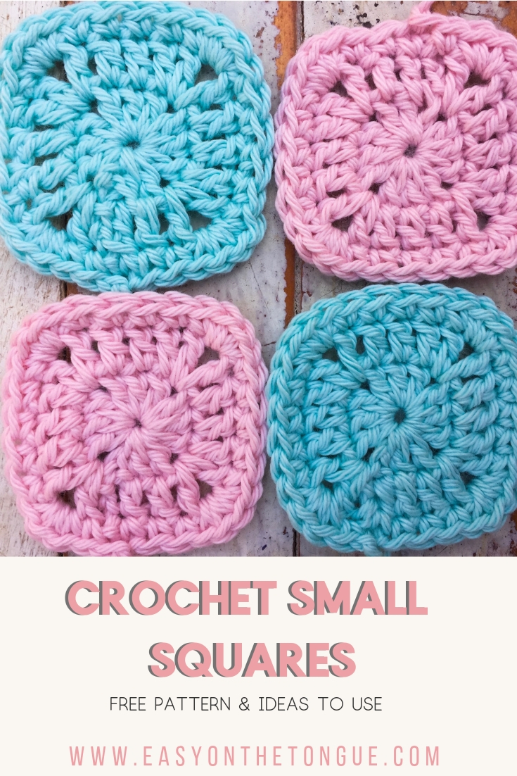 Knitted Squares Patterns Free Small Crochet Squares Fiberartsy