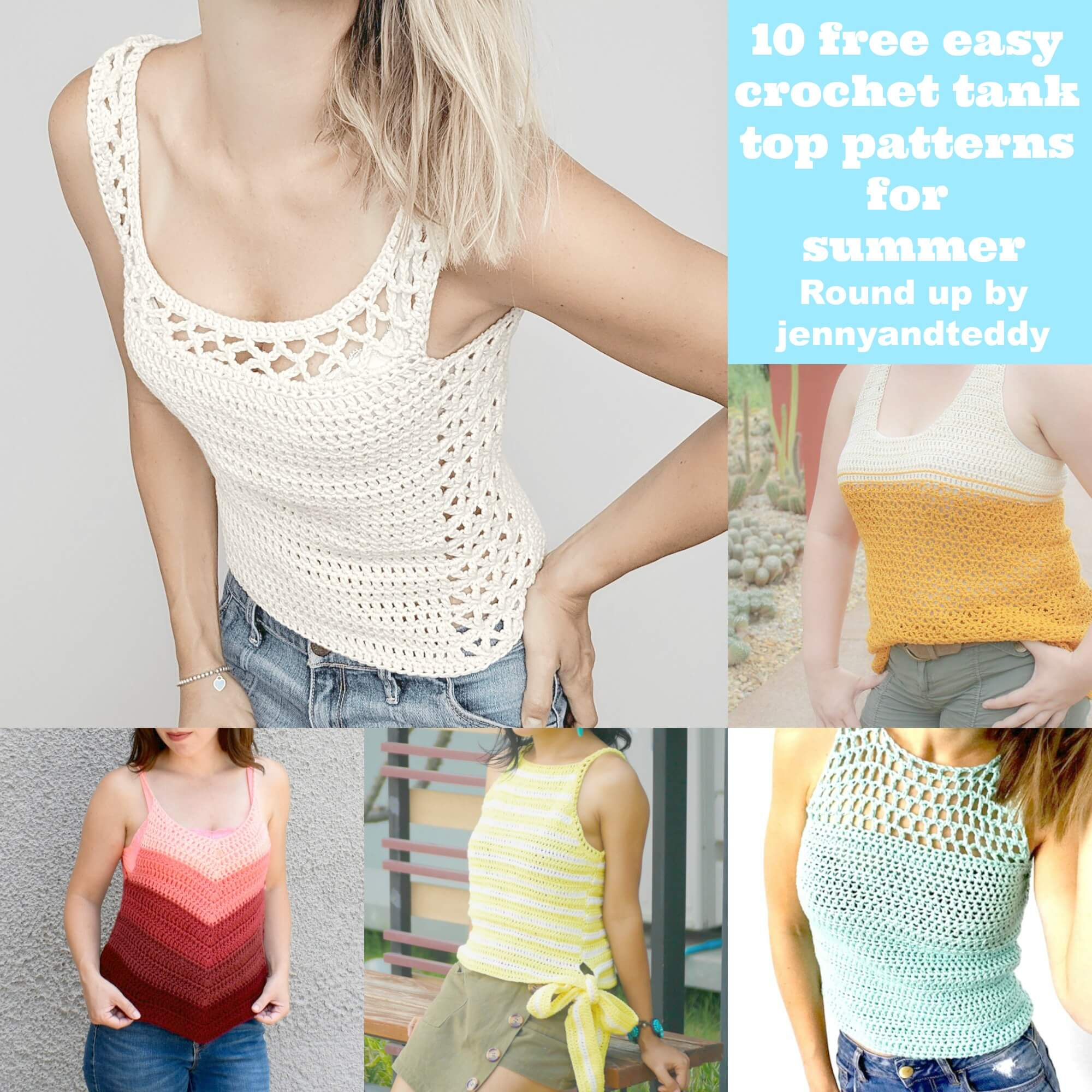 Knitted Tank Top Patterns 10 Free Easy Crochet Tank Top Patterns For Summer
