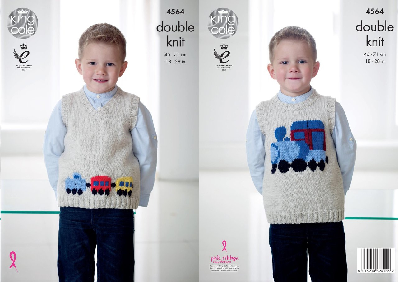 Knitted Tank Top Patterns King Cole 4564 Knitting Pattern Childrens Train Tank Tops In King Cole Pricewise Dk