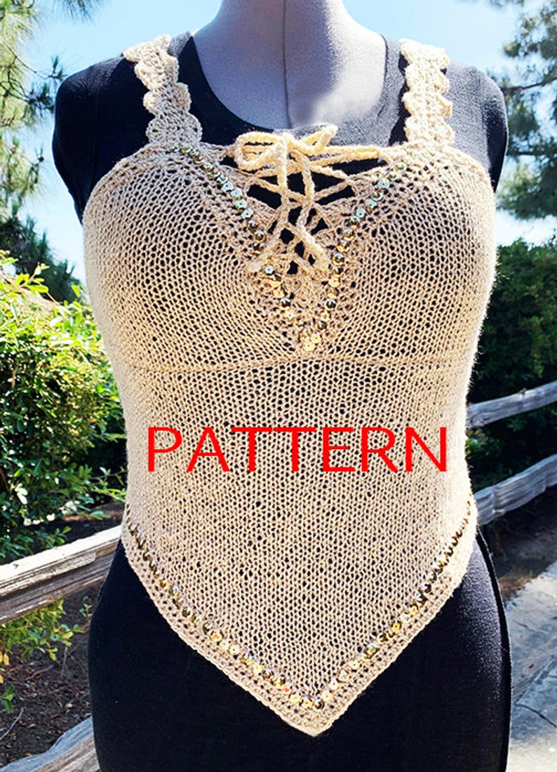 Knitted Tank Top Patterns Knitted Top Pattern Knitted Top Pattern For Women Sparkly Tank Top Pattern Knit Tank Top Tutorial