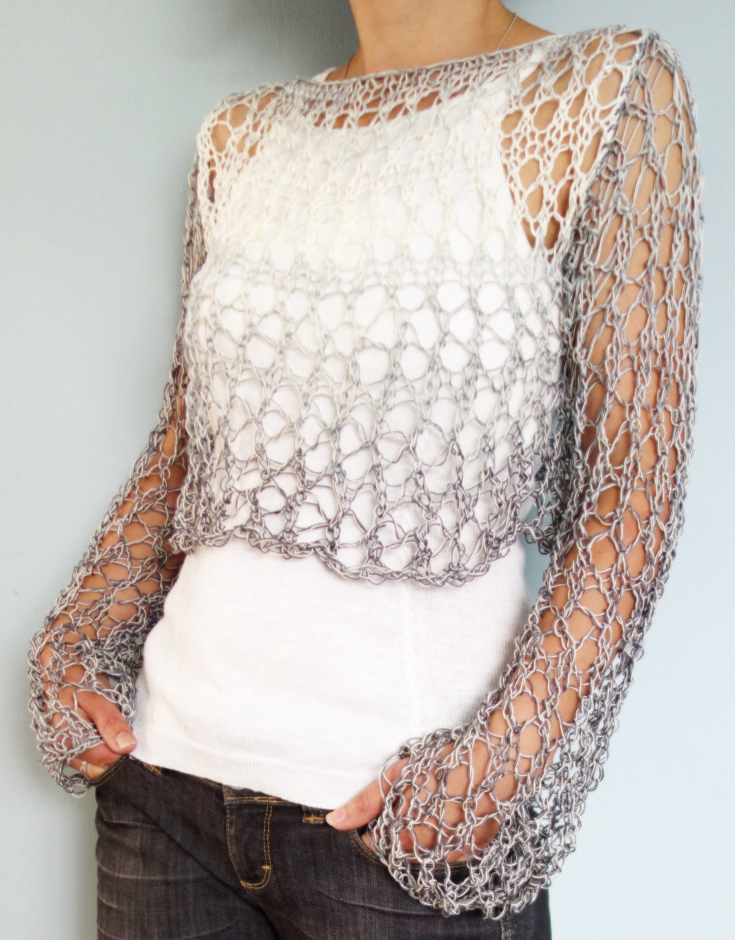 Knitted Tank Top Patterns Openwork Top Knitting Patterns In The Loop Knitting
