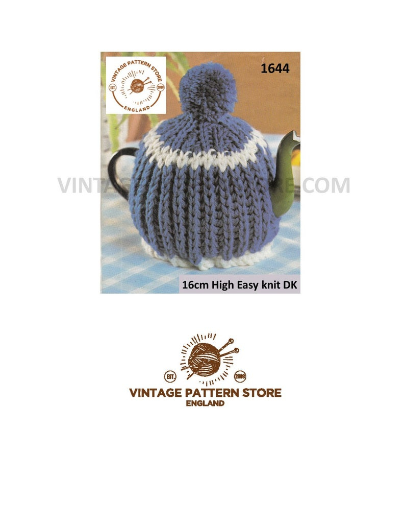 Knitted Tea Cosy Pattern Easy 80s Tea Cosy Knitting Pattern Easy To Knit Ribbed Tea Cosy Pattern Dk Tea Cosy Patterns Vintage Tea Cosy Pattern Pdf Download 1644