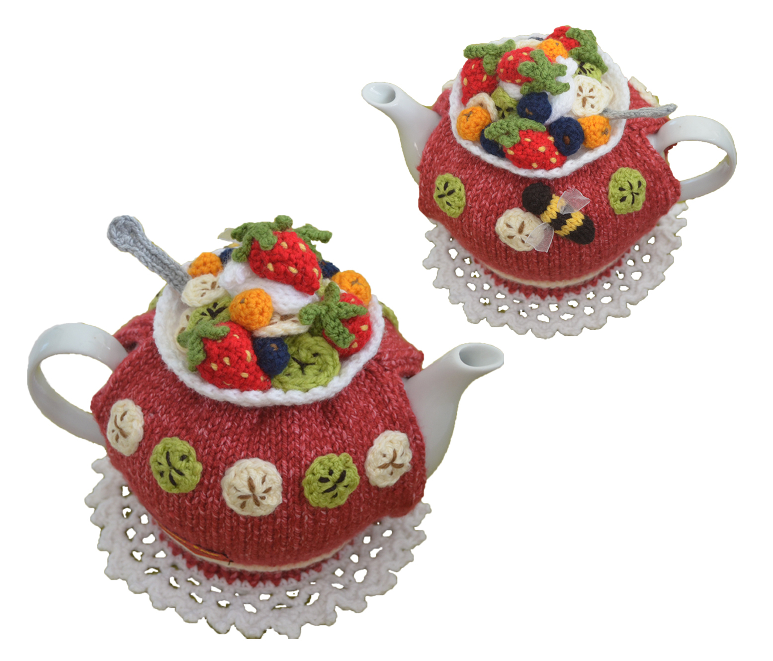 Knitted Tea Cosy Pattern Easy Fruit Salad Tea Cozy Pattern