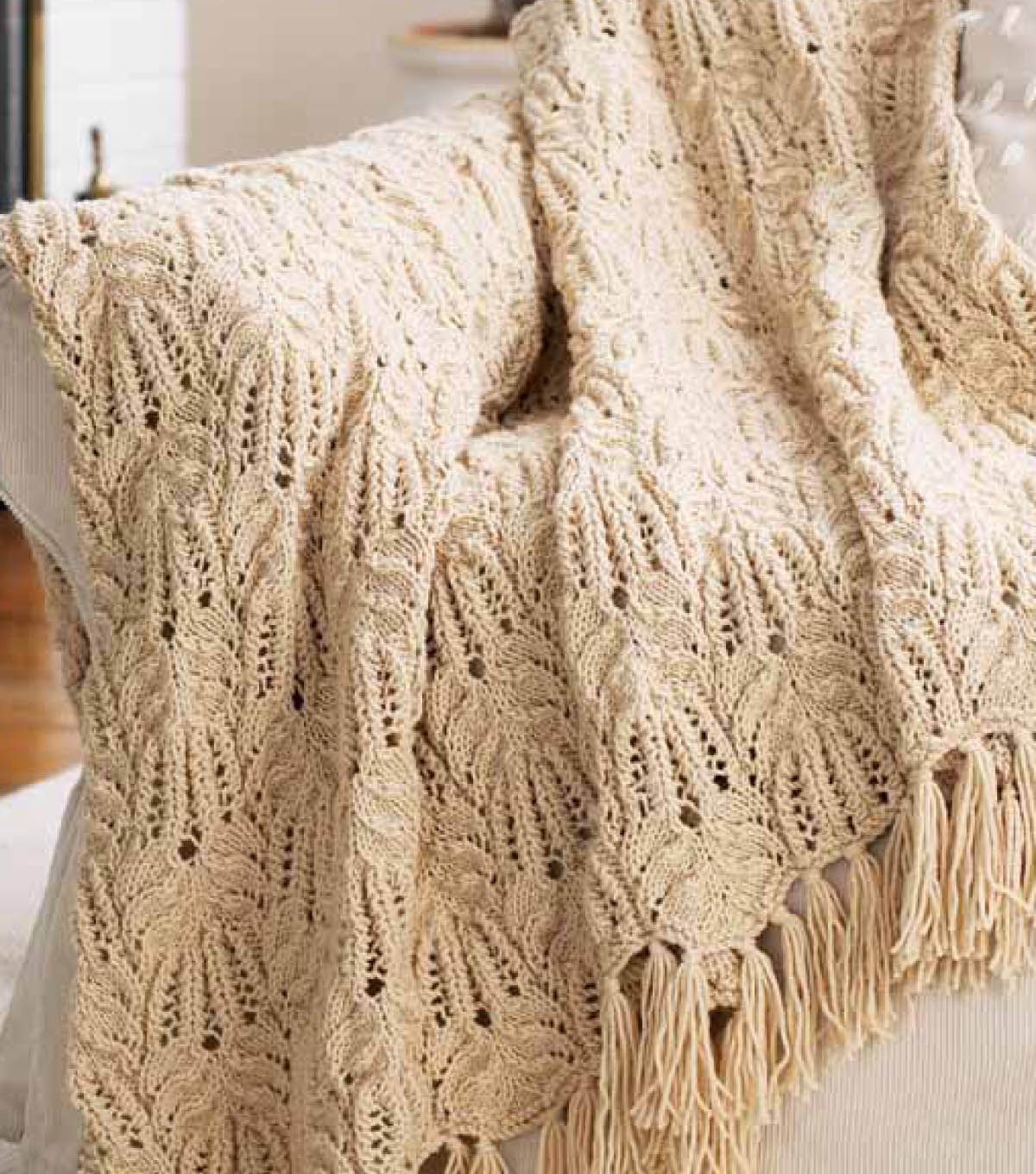 Knitting Afghan Patterns Free Free Knitting Pattern Lace And Cable Afghan