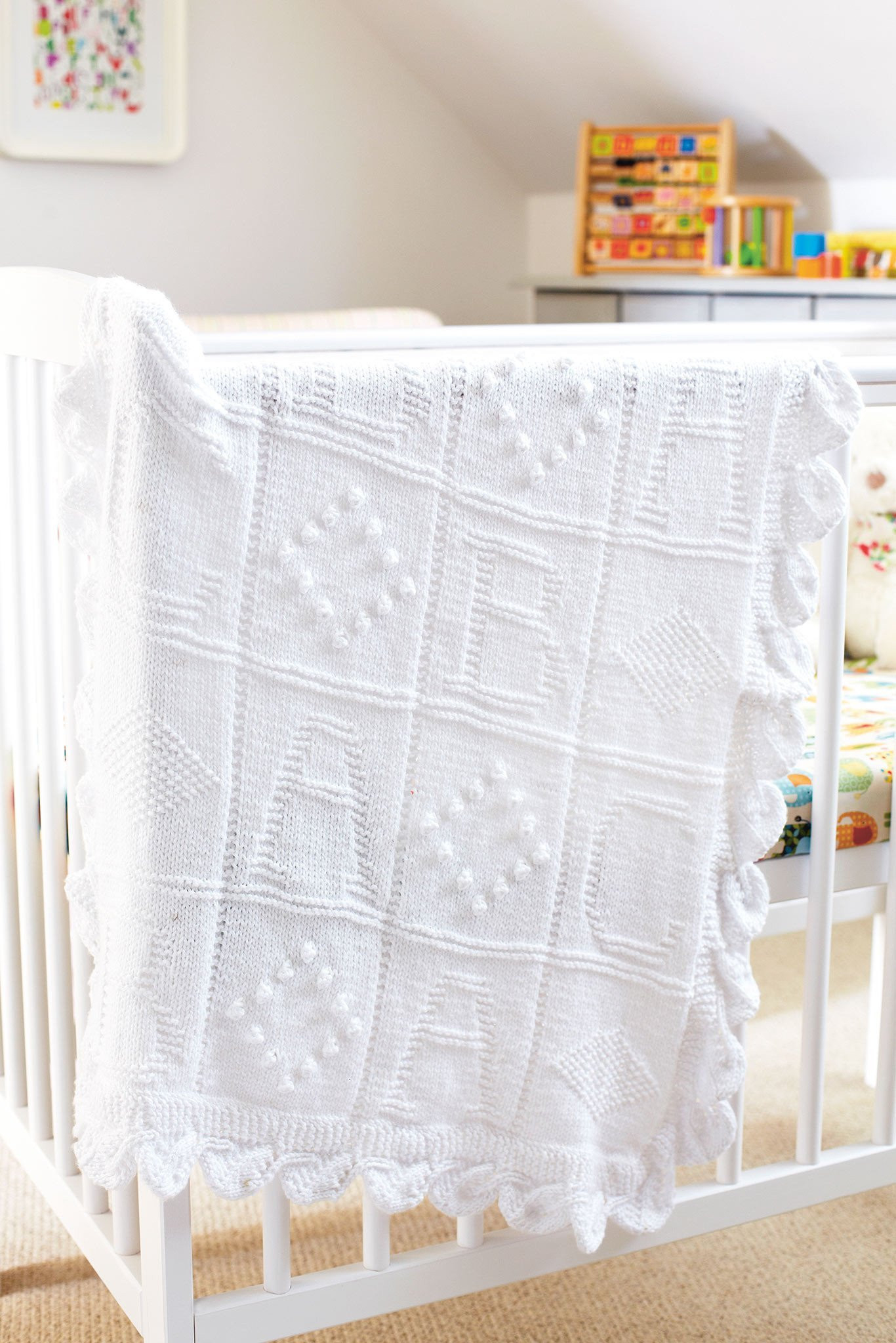 Knitting Baby Blankets Patterns Abc Ba Blanket Knitting Pattern