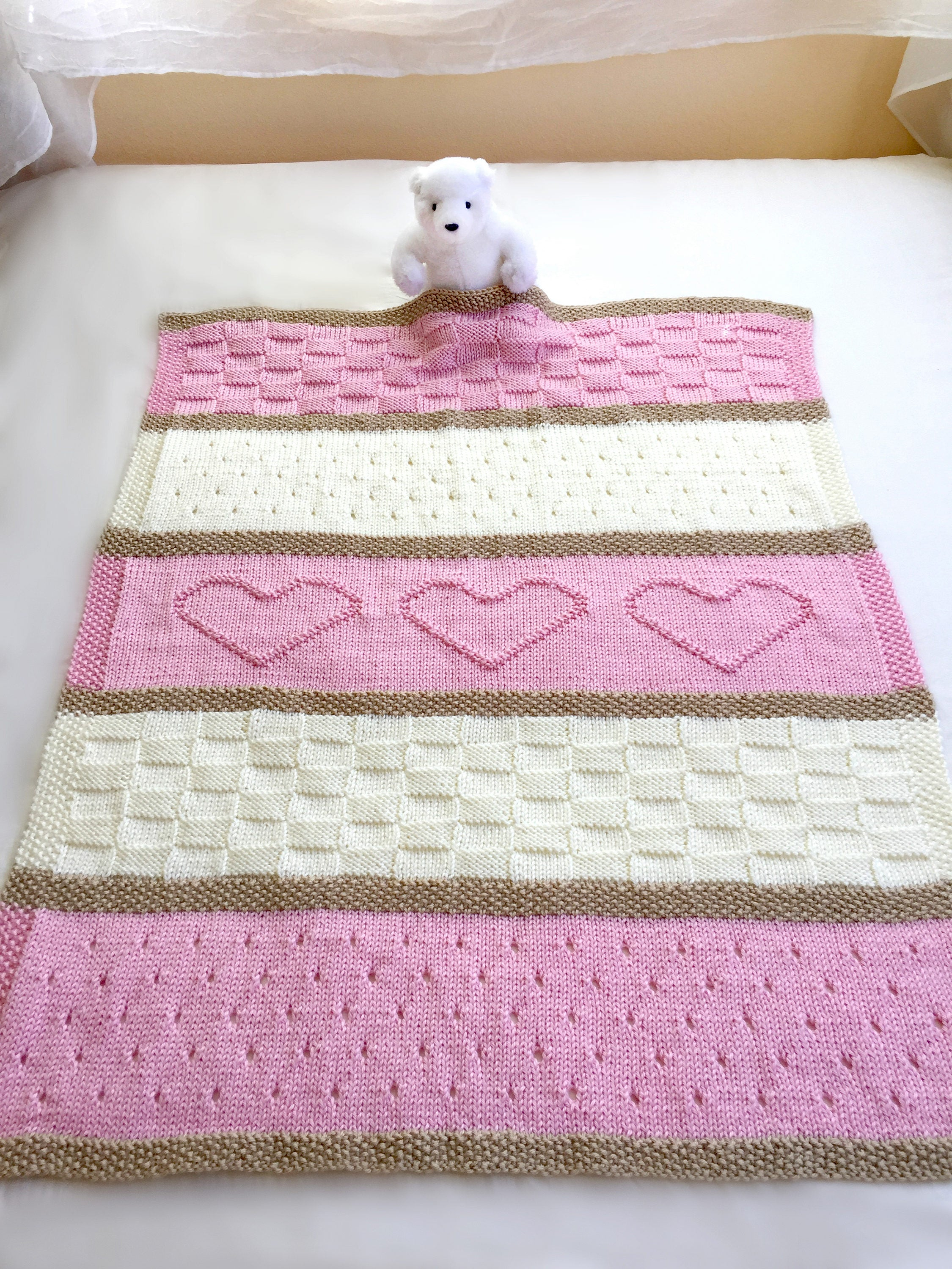 Knitting Baby Blankets Patterns Ba Blanket Pattern Knit Ba Blanket Pattern Heart Ba Blanket Pattern Crib Blanket Knitting Pattern Deborah Oleary
