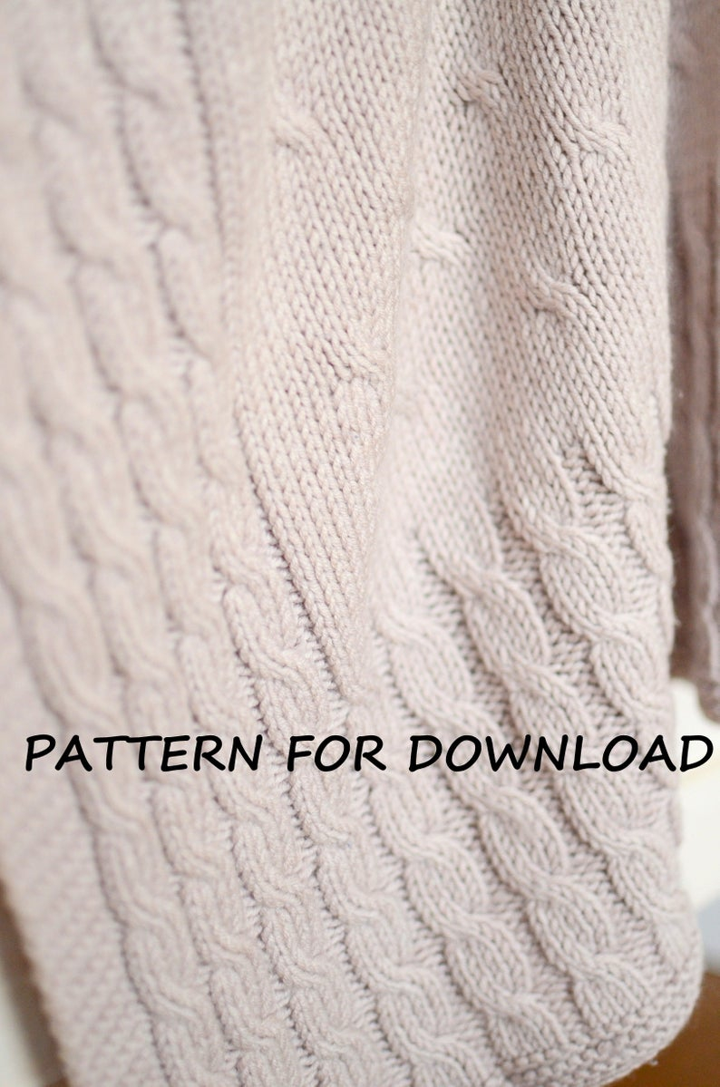 Knitting Baby Blankets Patterns Cable Knit Ba Blanket Pdf Pattern In English Knitted Ba Blanket Pattern Knitting Pattern For Babies Ba Blanket Knitting Pattern