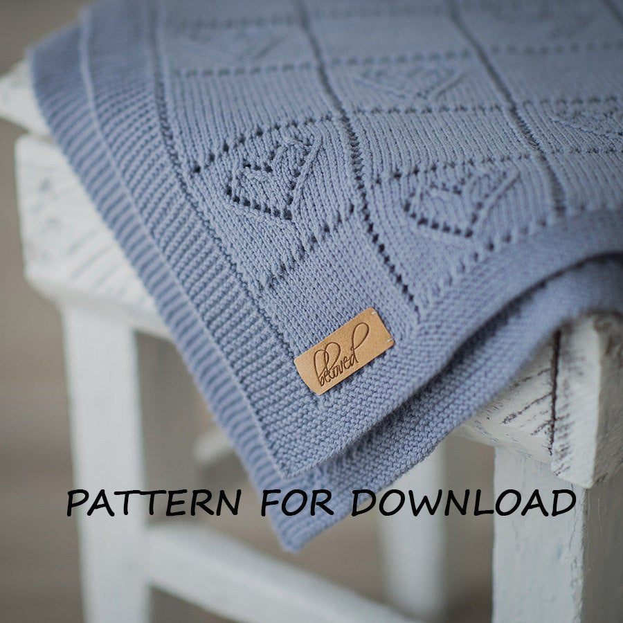 Knitting Baby Blankets Patterns Knit Ba Blanket Pattern In English Knitting Pattern For Babies Heart Ba Blanket Pattern Ba Blanket Knitting Pattern Pdf Pattern