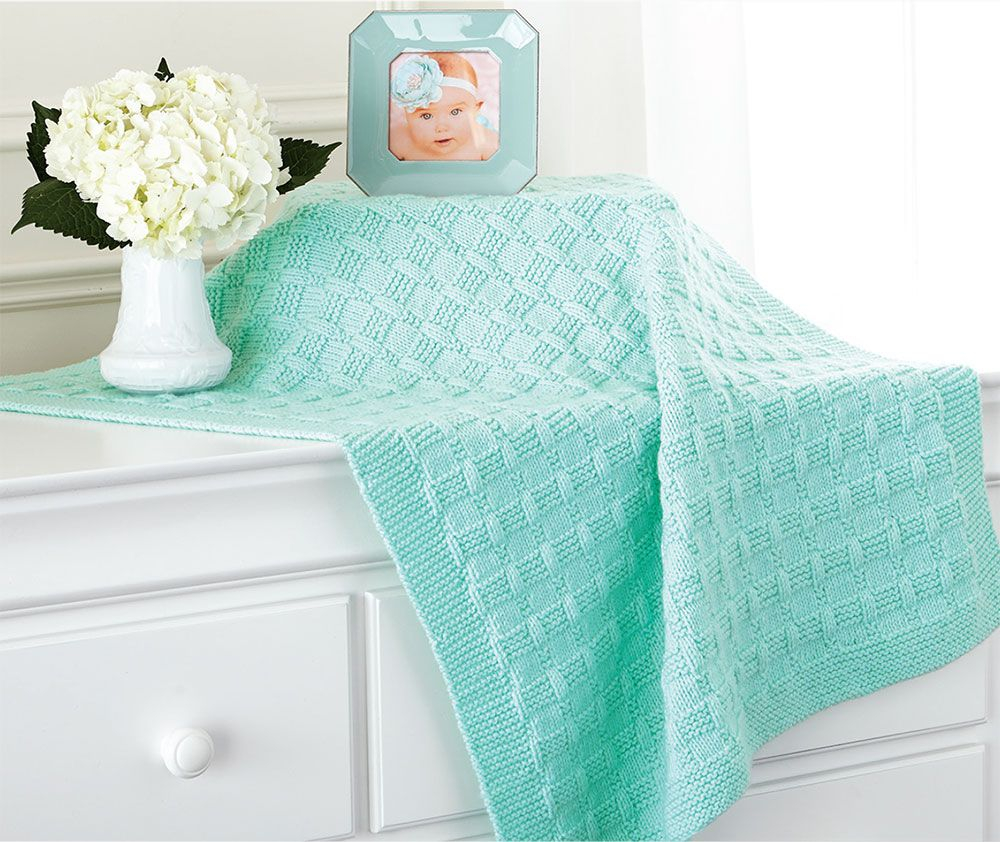 Knitting Baby Blankets Patterns Tiled Ba Blanket Pattern