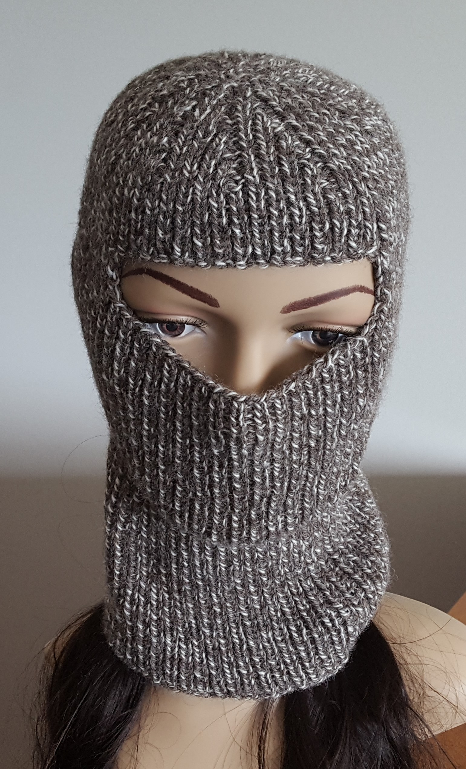 Knitting Pattern Balaclava 8ply 1x1 Rib Balaclava Knitting Pattern Rory