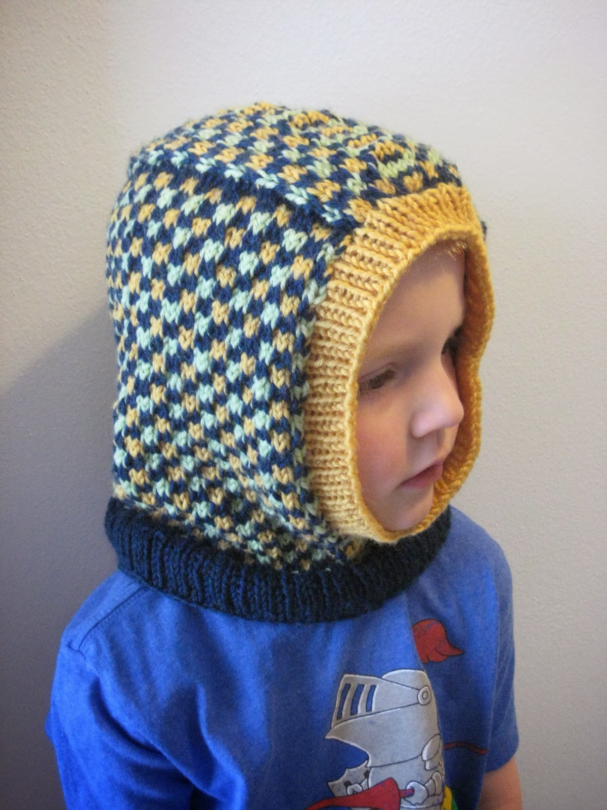 Knitting Pattern Balaclava Balls To The Walls Knits Kids Dice Check Balaclava