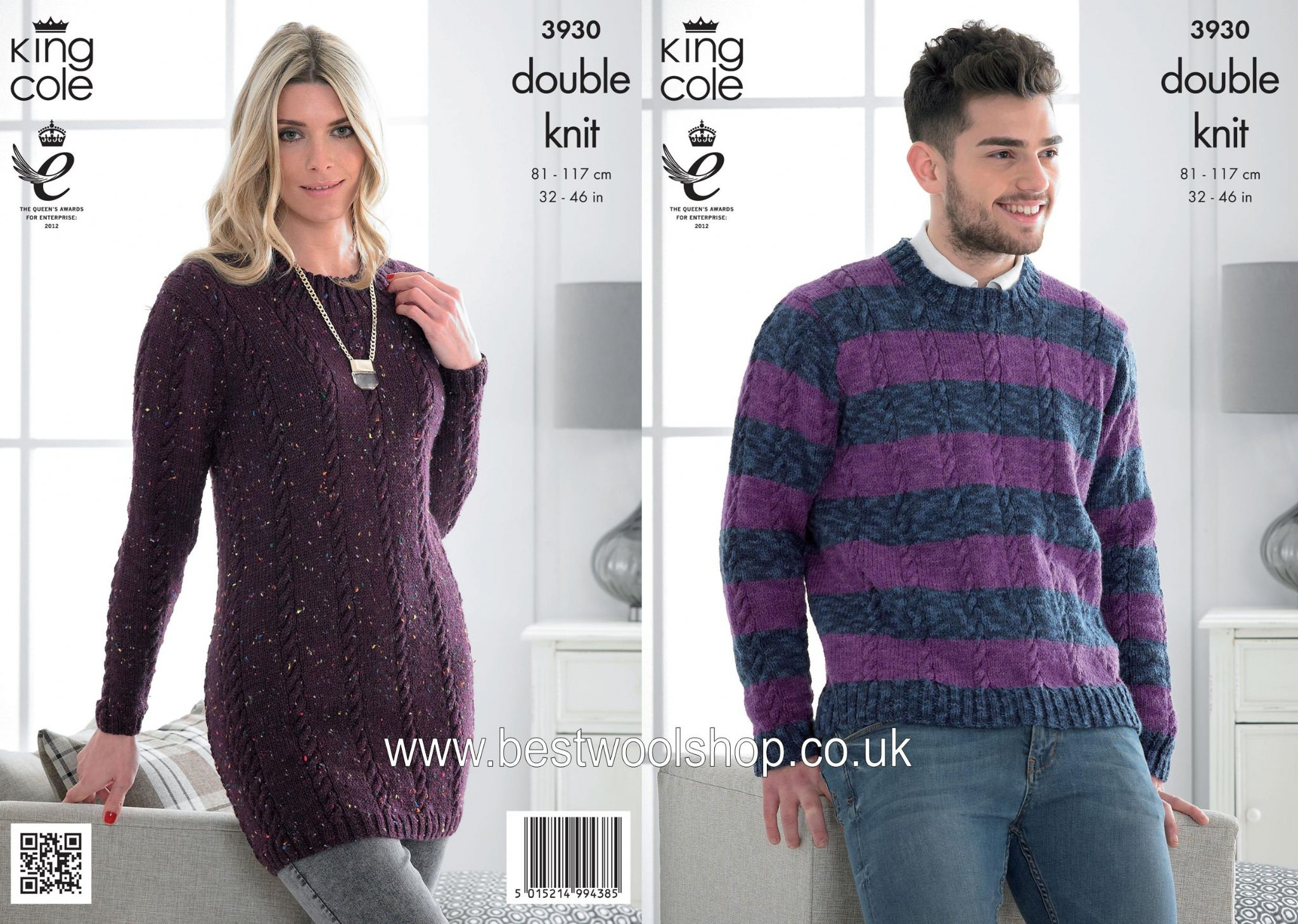 Knitting Pattern Dress 3930 King Cole Moods Dk Mens Sweater Ladies Sweater Dress Tunic Knitting Pattern To Fit Chest 32 To 46