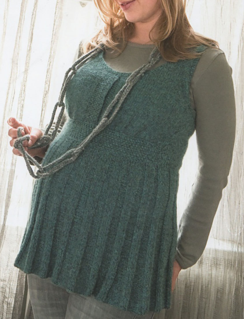 Knitting Pattern Dress Knitted Tunic For Pregnant Women