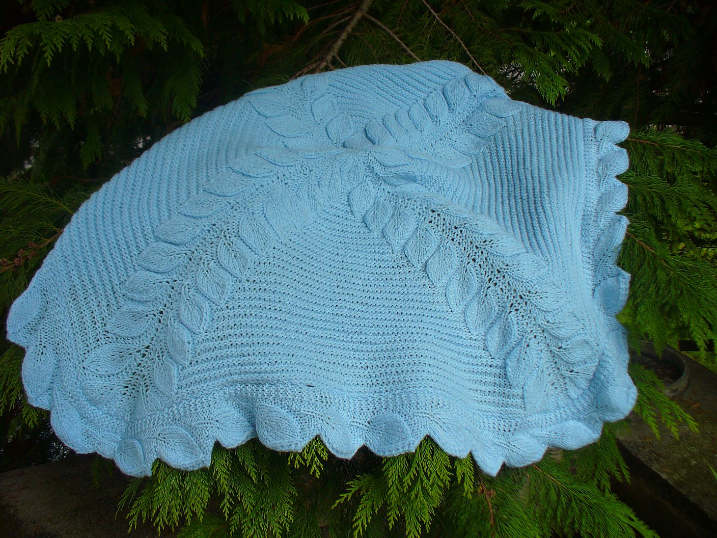 Knitting Pattern For Baby Blankets Free Leaf Ba Blanket Knitting Pattern