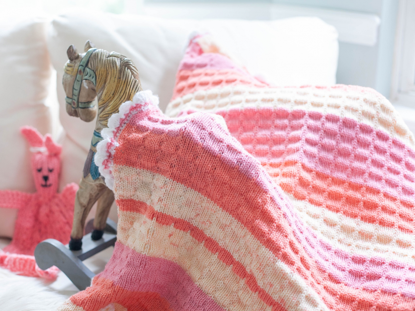 Knitting Pattern For Baby Blankets Loom Knit Ba Blanket With Crochet Edging Pattern Stroller Size Tuck Stitch Make For A Boy Or Girl Pdf Pattern Download