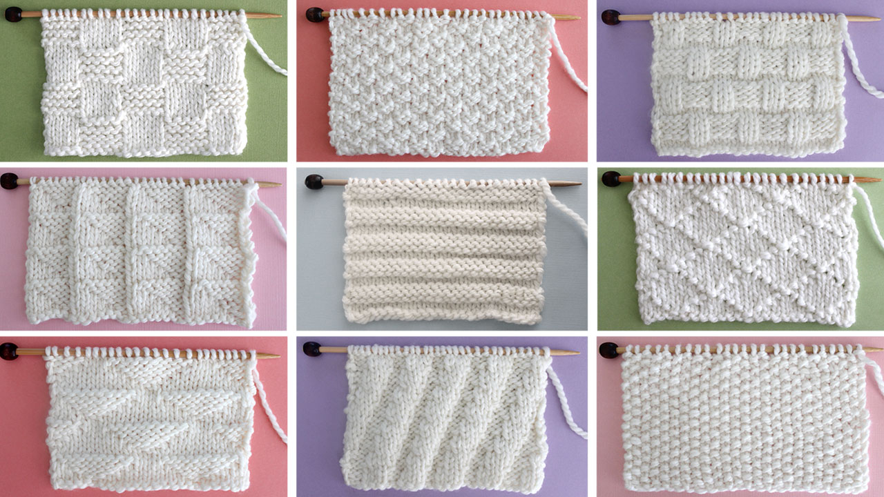Knitting Pattern For Beginners Knit Stitch Patterns For Beginning Knitters Studio Knit