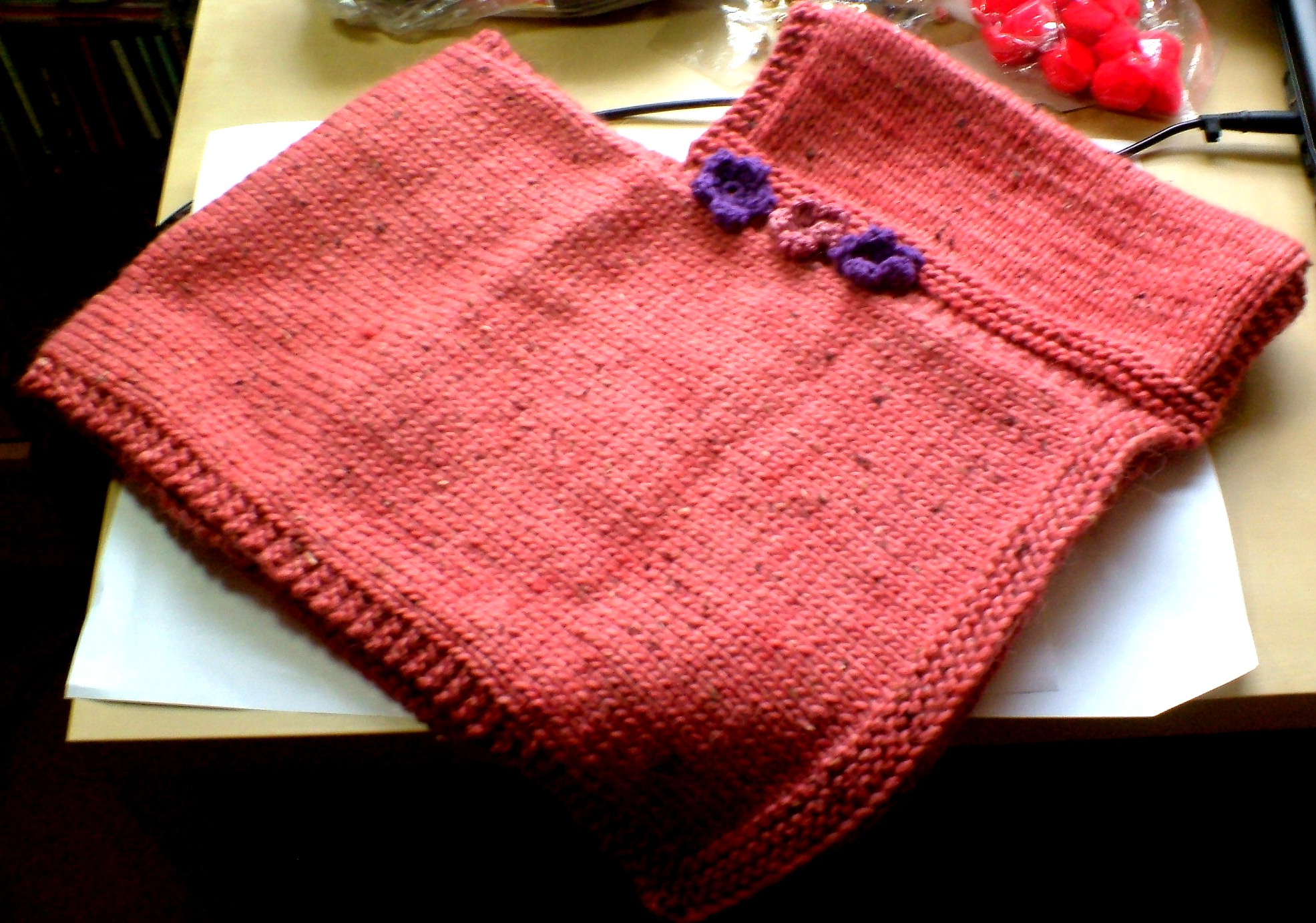 Knitting Pattern For Childs Poncho Childs Poncho Elliefants Delights