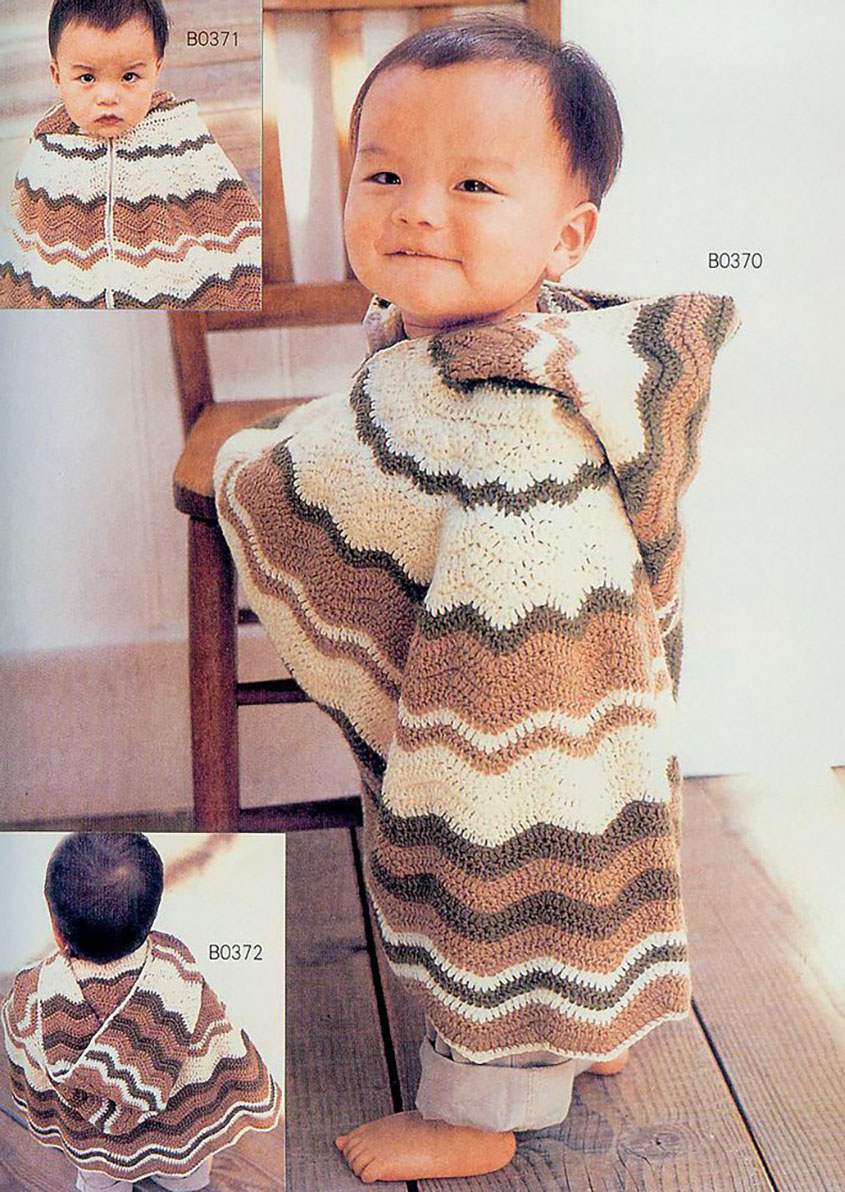 Knitting Pattern For Childs Poncho Crochet Hooded Poncho For Ba