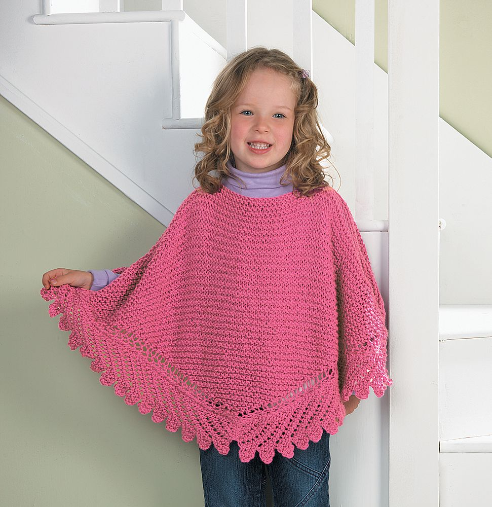 Knitting Pattern For Childs Poncho Free My Princess Poncho Knit Pattern