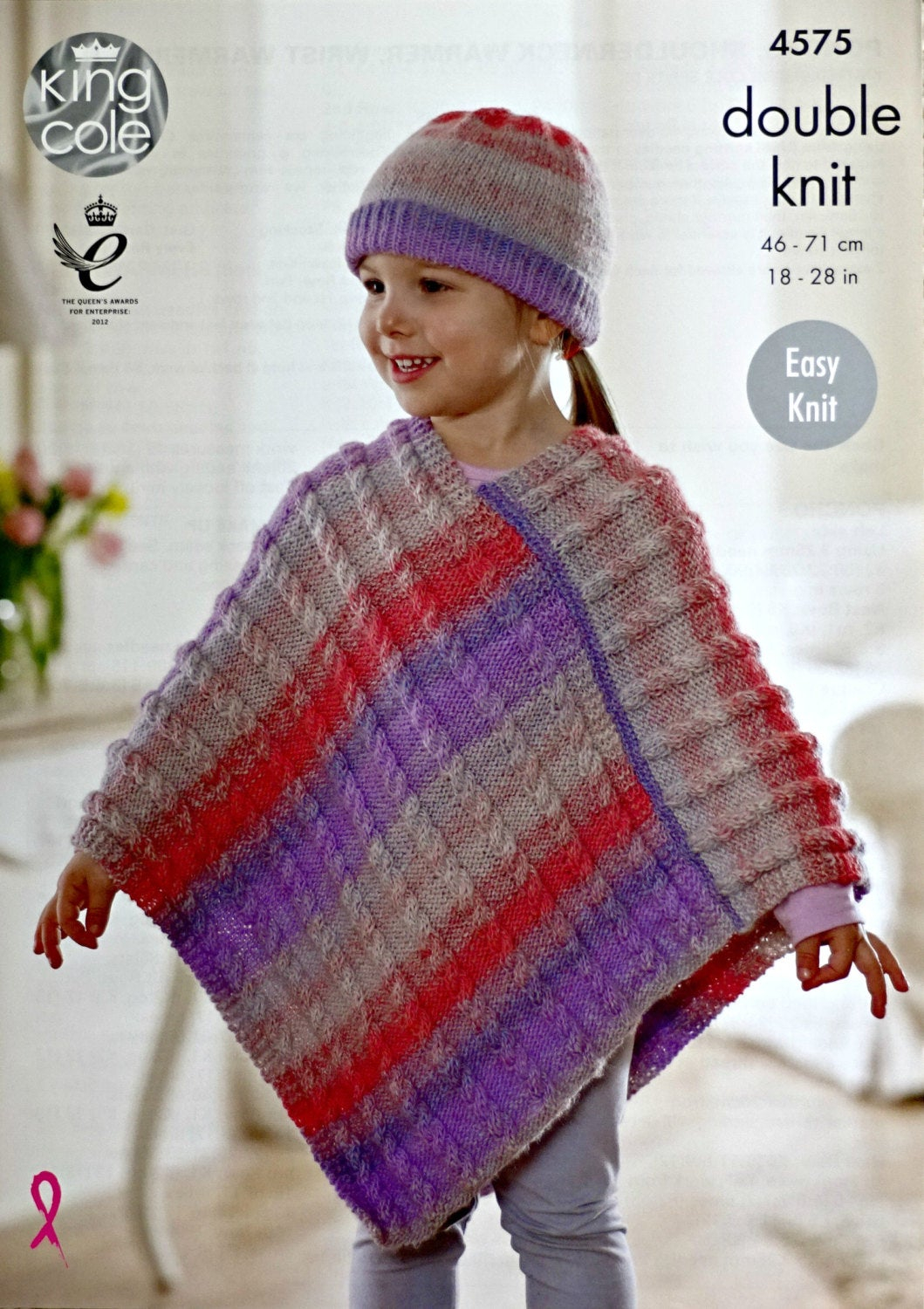 Knitting Pattern For Childs Poncho Girls Knitting Pattern K4575 Girls Easy Knit Cable Poncho And Hat Knitting Pattern Sprite Dk Light Worsted King Cole
