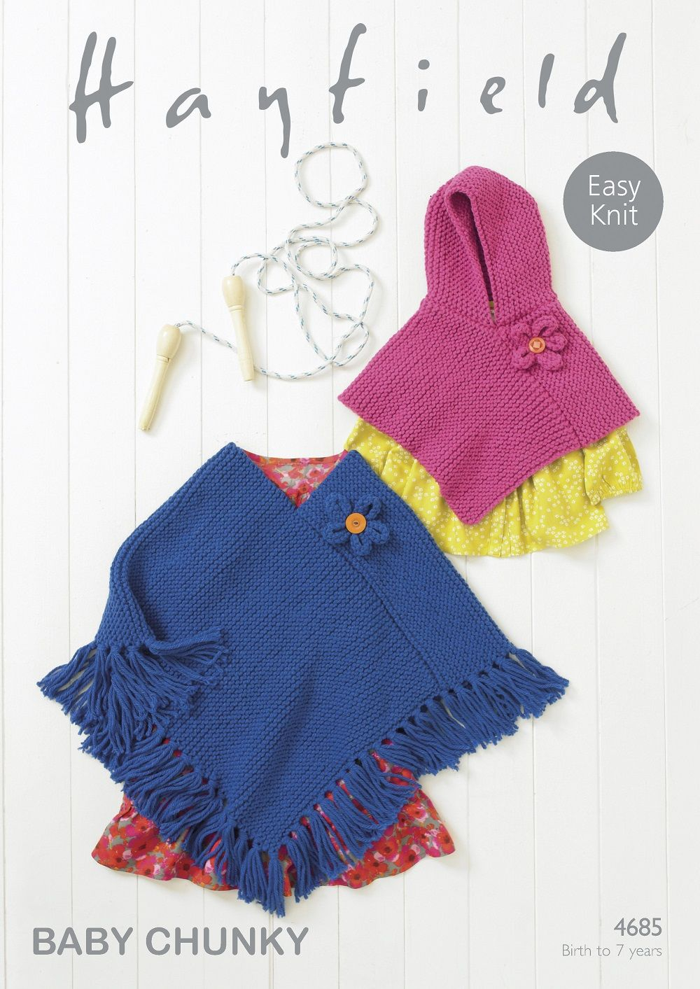 Knitting Pattern For Childs Poncho Hayfield Babieschildrens Ponchos Knitting Pattern In Ba Chunky 4685p Pdf