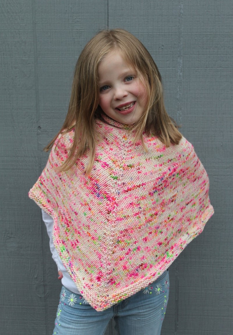 Knitting Pattern For Childs Poncho Knitted Ponchos For Kids Pattern Center