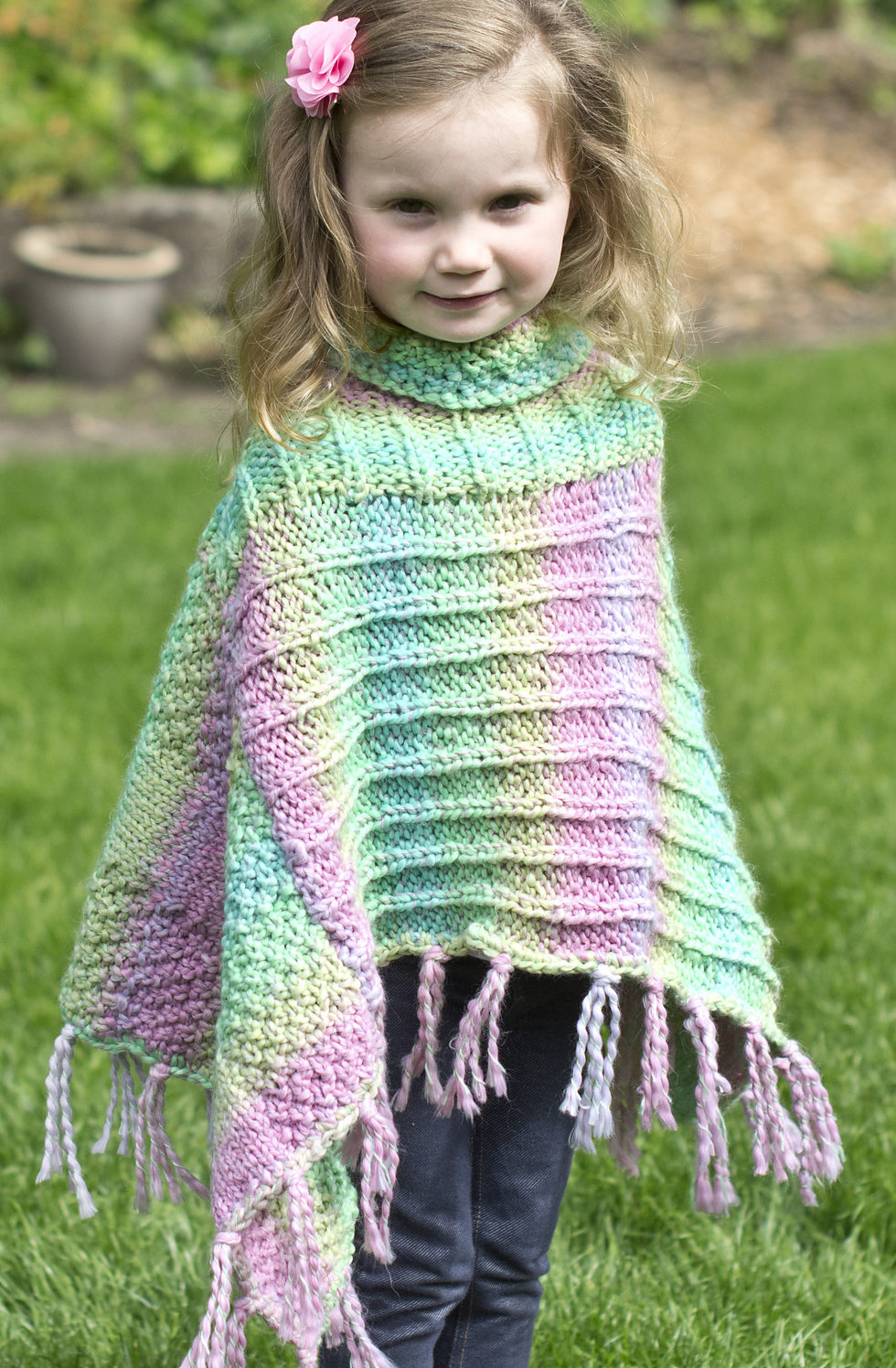 Knitting Pattern For Childs Poncho Ponchos For Babies And Children In The Loop Knitting