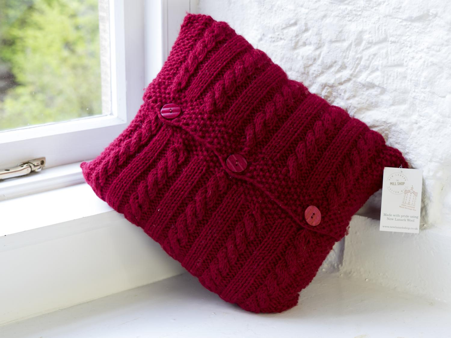 Knitting Pattern For Cushion Cover With Cables Cable Cushion Cover Chunky Pattern