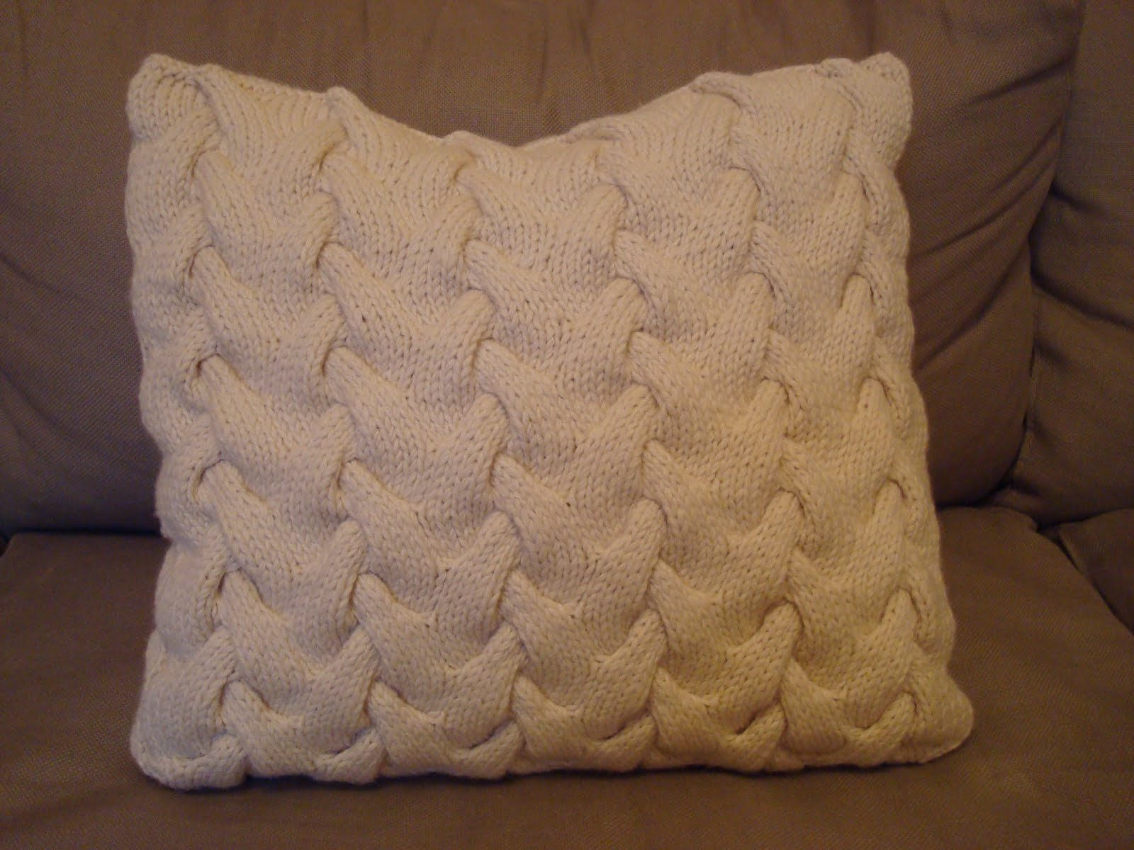 Knitting Pattern For Cushion Cover With Cables Cable Knitted Cushion Cover Guthrie Ghani