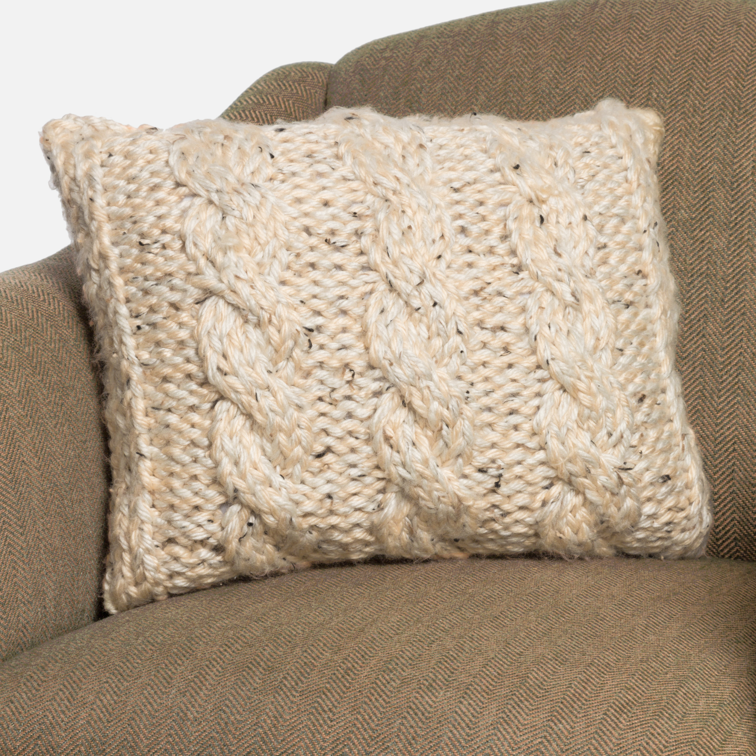 Knitting Pattern For Cushion Cover With Cables Chunky Cable Knit Pillow Cover