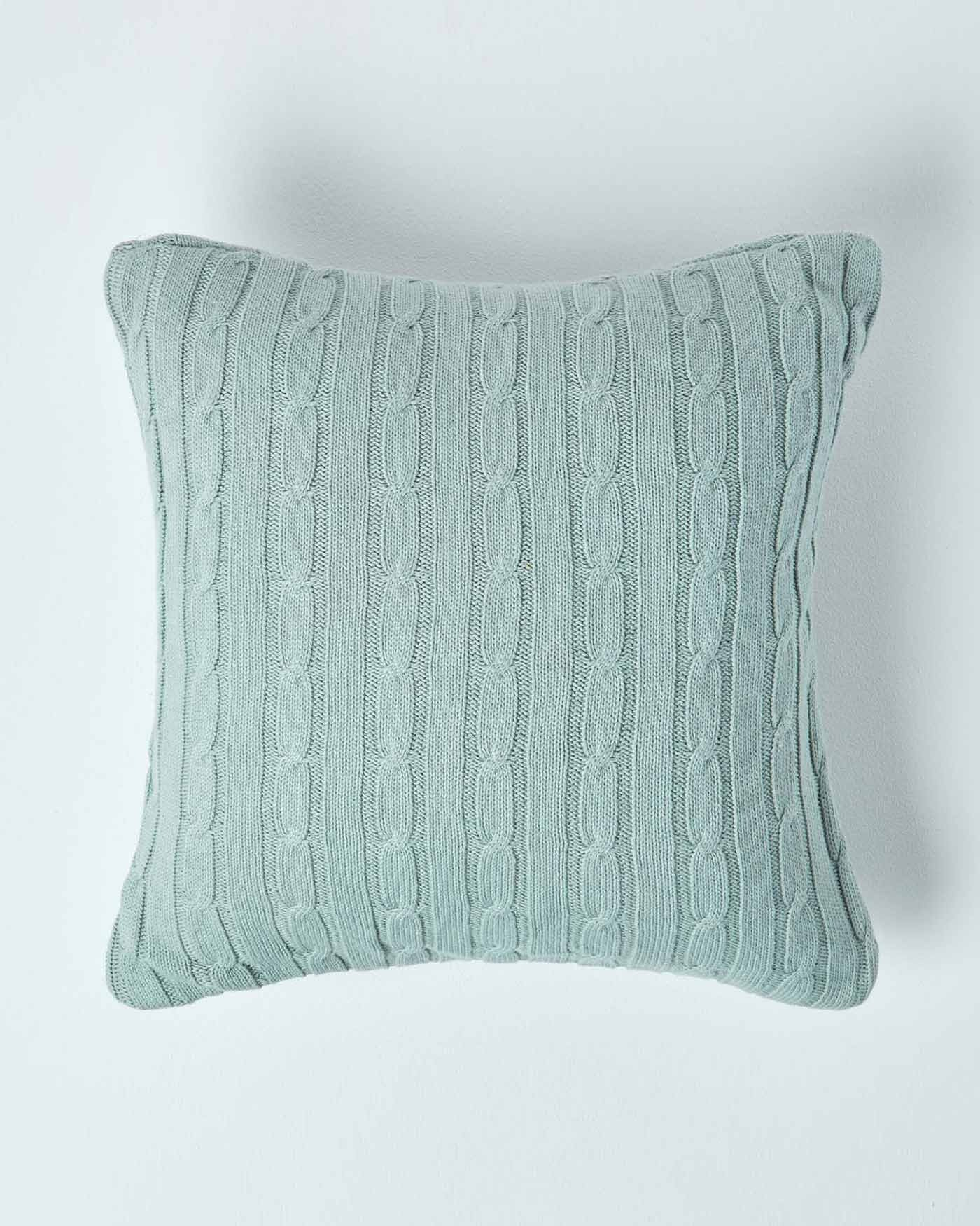 Knitting Pattern For Cushion Cover With Cables Cotton Cable Knit Cushion Covers