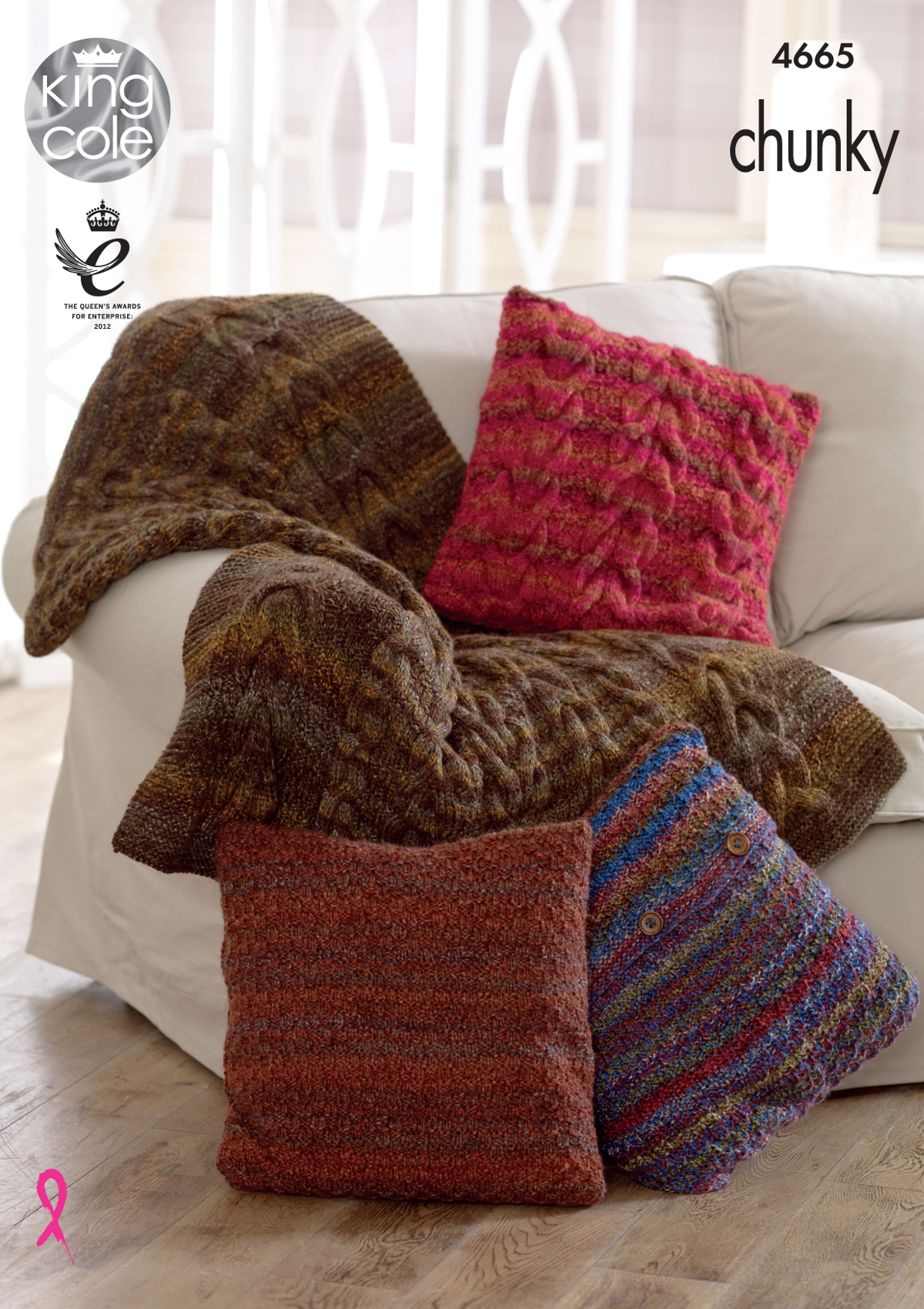 Knitting Pattern For Cushion Cover With Cables Details About King Cole Chunky Knitting Pattern Throw Cable Moss Stitch Cushion Covers 4665