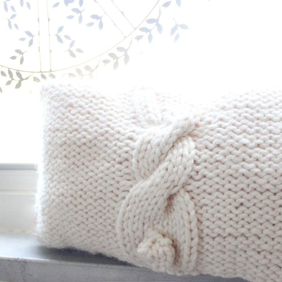Knitting Pattern For Cushion Cover With Cables Easy Bunny Cable Knitting Pattern Studio Knit