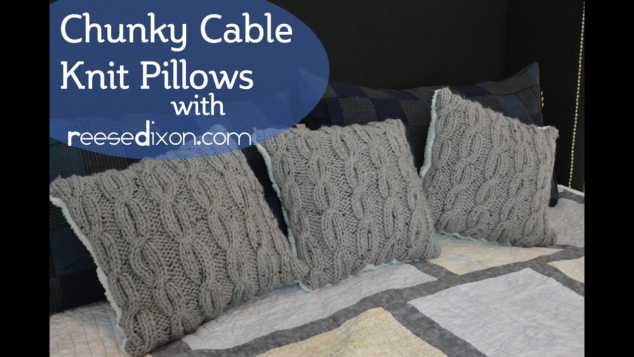 Knitting Pattern For Cushion Cover With Cables Make Some Cozy Cable Knit Pillows