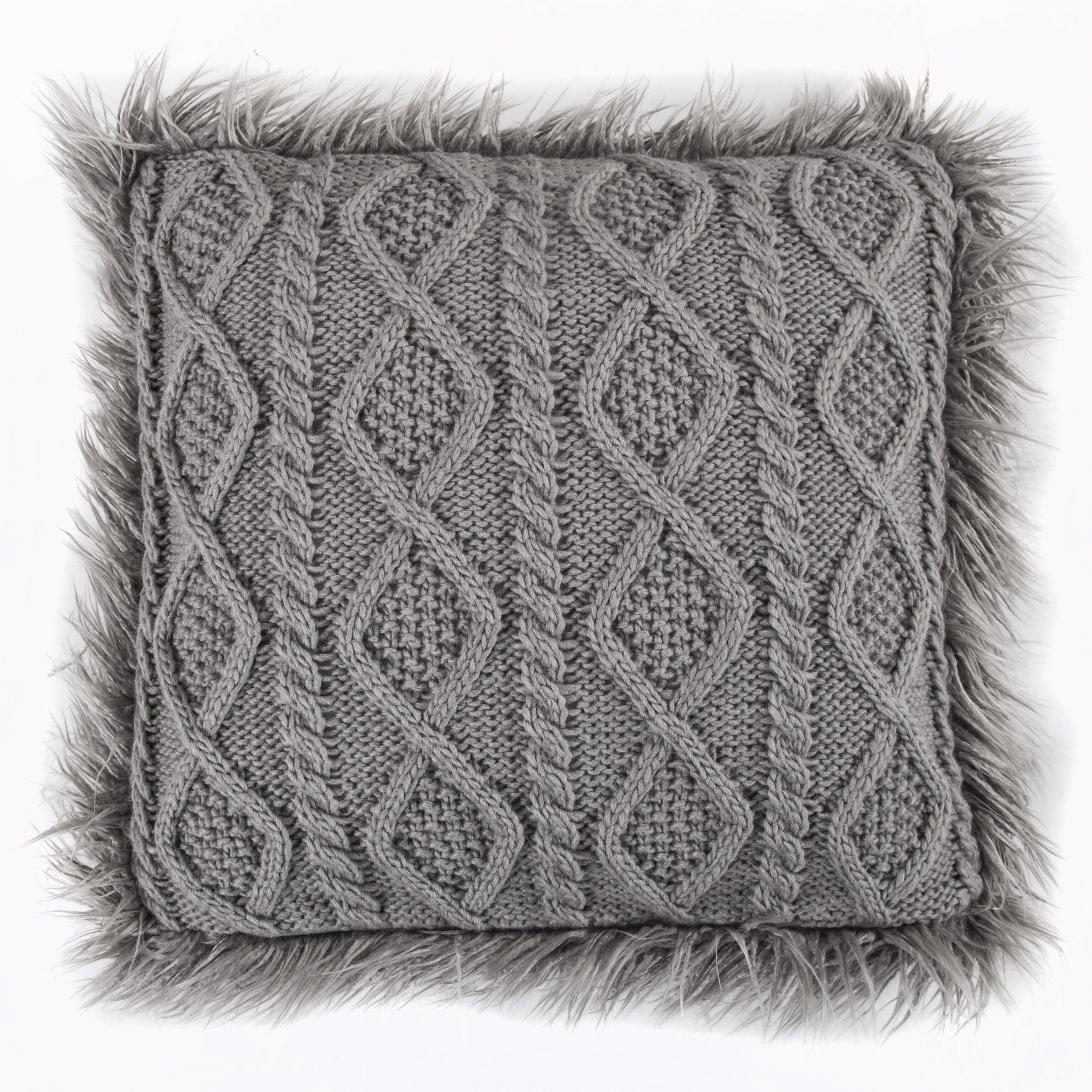 Knitting Pattern For Cushion Cover With Cables Nordic Cable Knit Throw Pillow