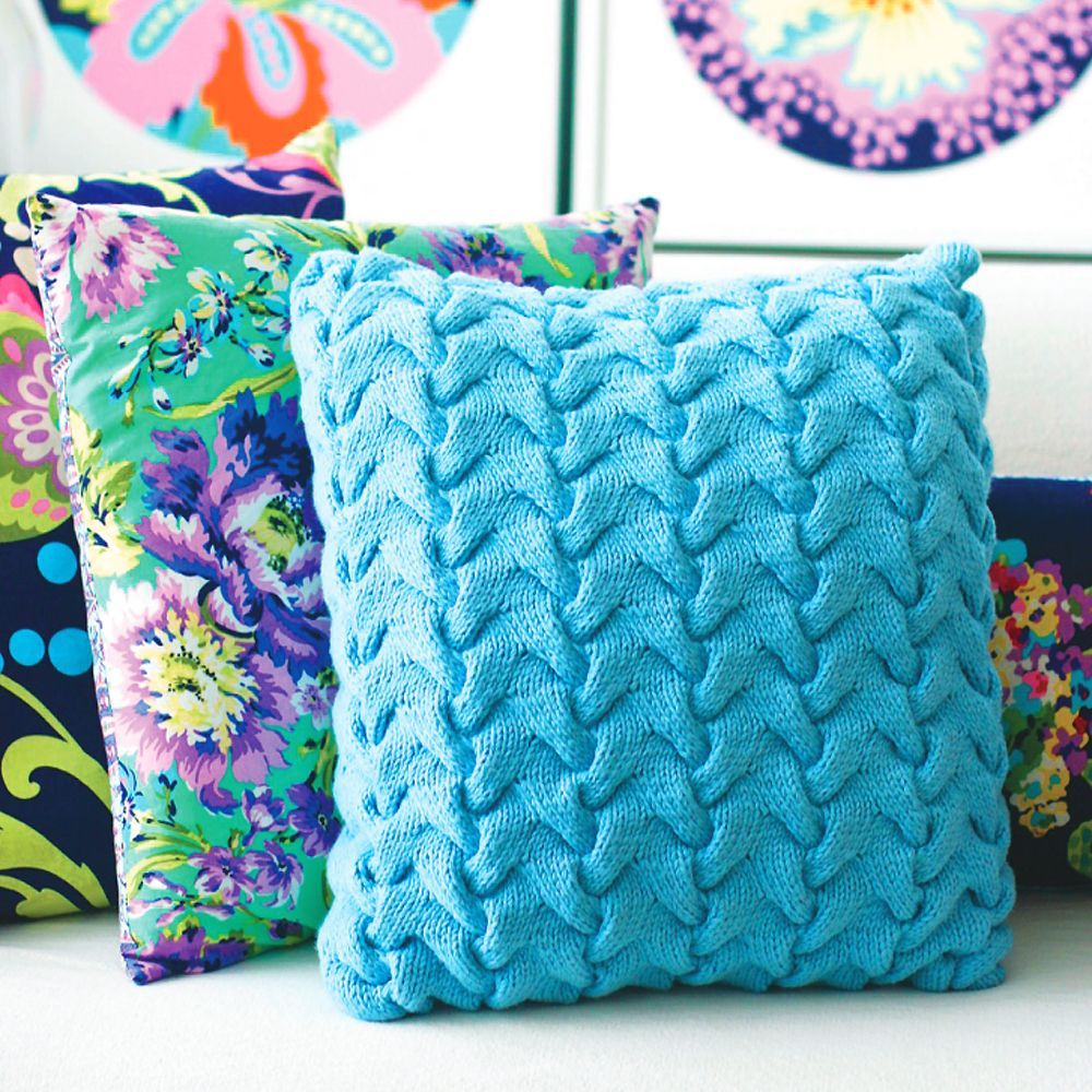 Knitting Pattern For Cushion Cover With Cables Update A Sofa With A Funky Cable Cushion Knitting Pattern
