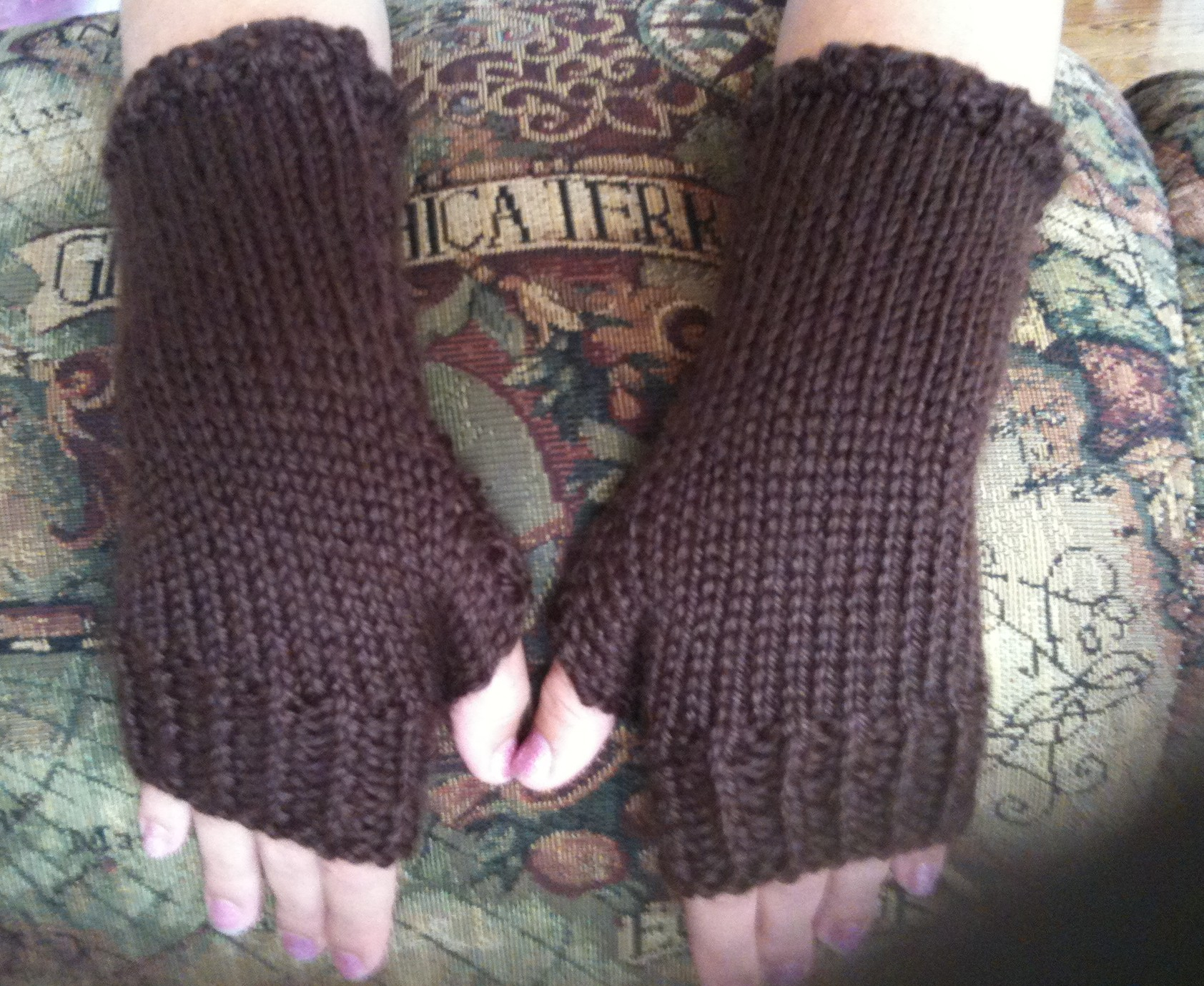 Knitting Pattern For Gloves How To Knit Close Fitting Fingerless Gloves 21 Steps With Pictures