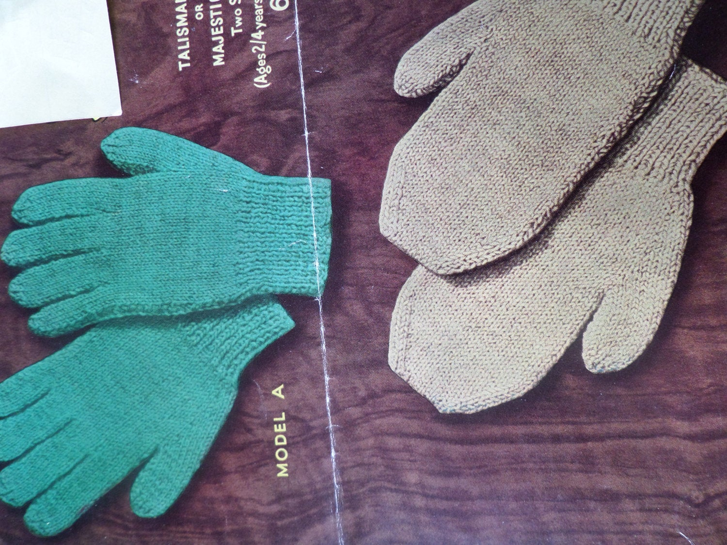 Knitting Pattern For Gloves Knitting Pattern Gloves And Mittens Children Boys And Girls 3 Ply Vintage