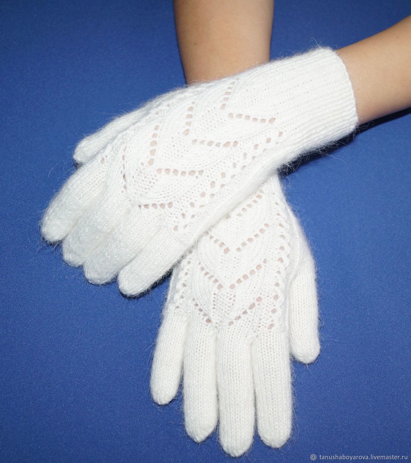 Knitting Pattern For Gloves White Fluffy Gloves Knitted Gloves With Lace Pattern Dpactcom Orenburg