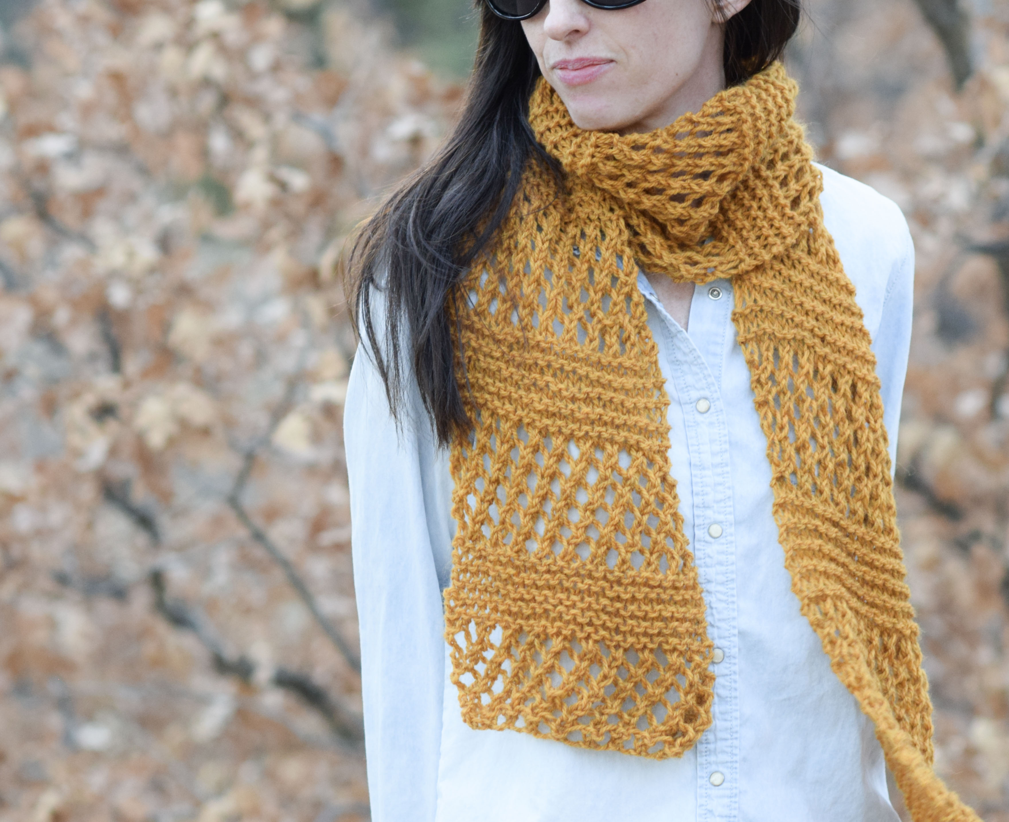 Knitting Pattern For Scarfs Honeycombs Summer Easy Scarf Knitting Pattern Mama In A Stitch