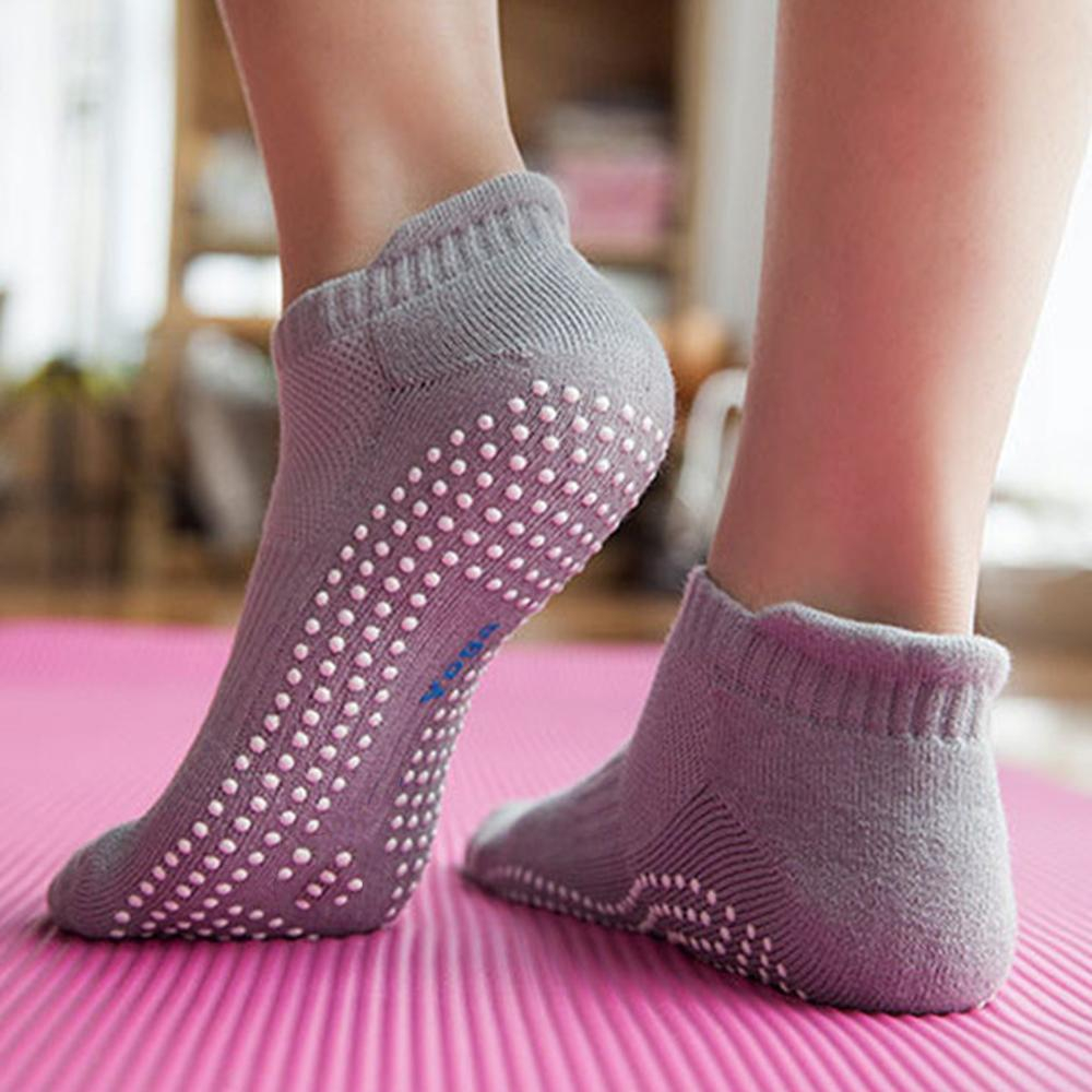 Knitting Pattern For Yoga Socks Adult Thick Cotton Yoga Pilates Socks Women Fitness Gym Fitness Anti Skid Breathable Camping Hiking Non Slip Sports Sock