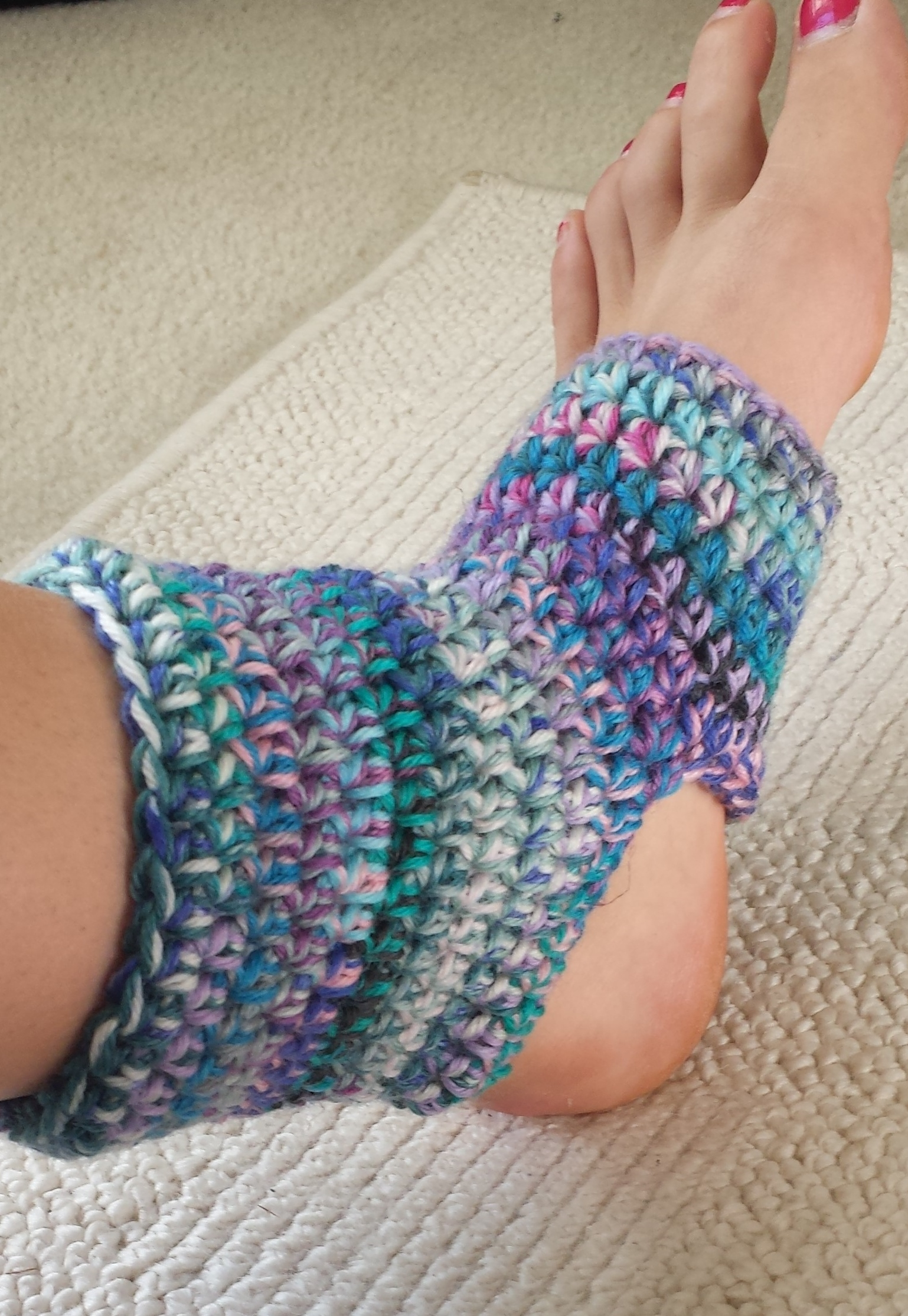 Knitting Pattern For Yoga Socks Strike Your Warrior Pose In Crocheted Yoga Socks Never Too Much Yarn
