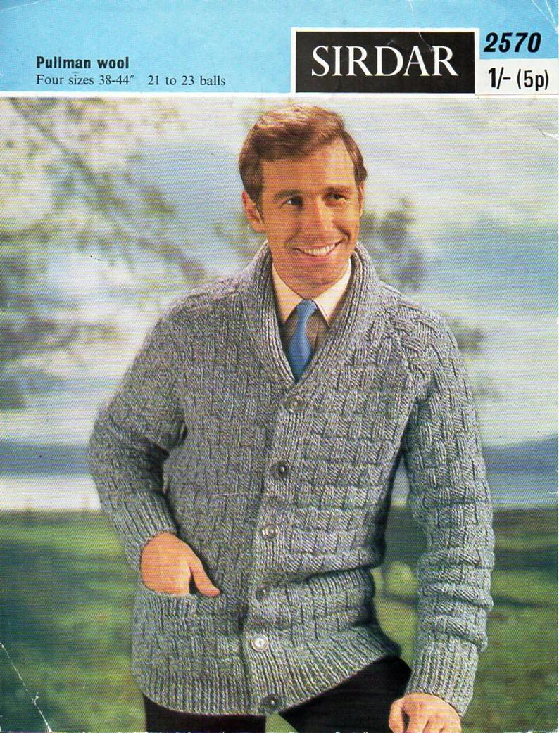 Knitting Pattern Mens Cardigan Mens Knitting Pattern Pdf Download Mens Cardigan Knitting Pattern Mens Jacket Shawl Collar Roll Neck Cardigan 38 44 Chunky Bulky 12 Ply