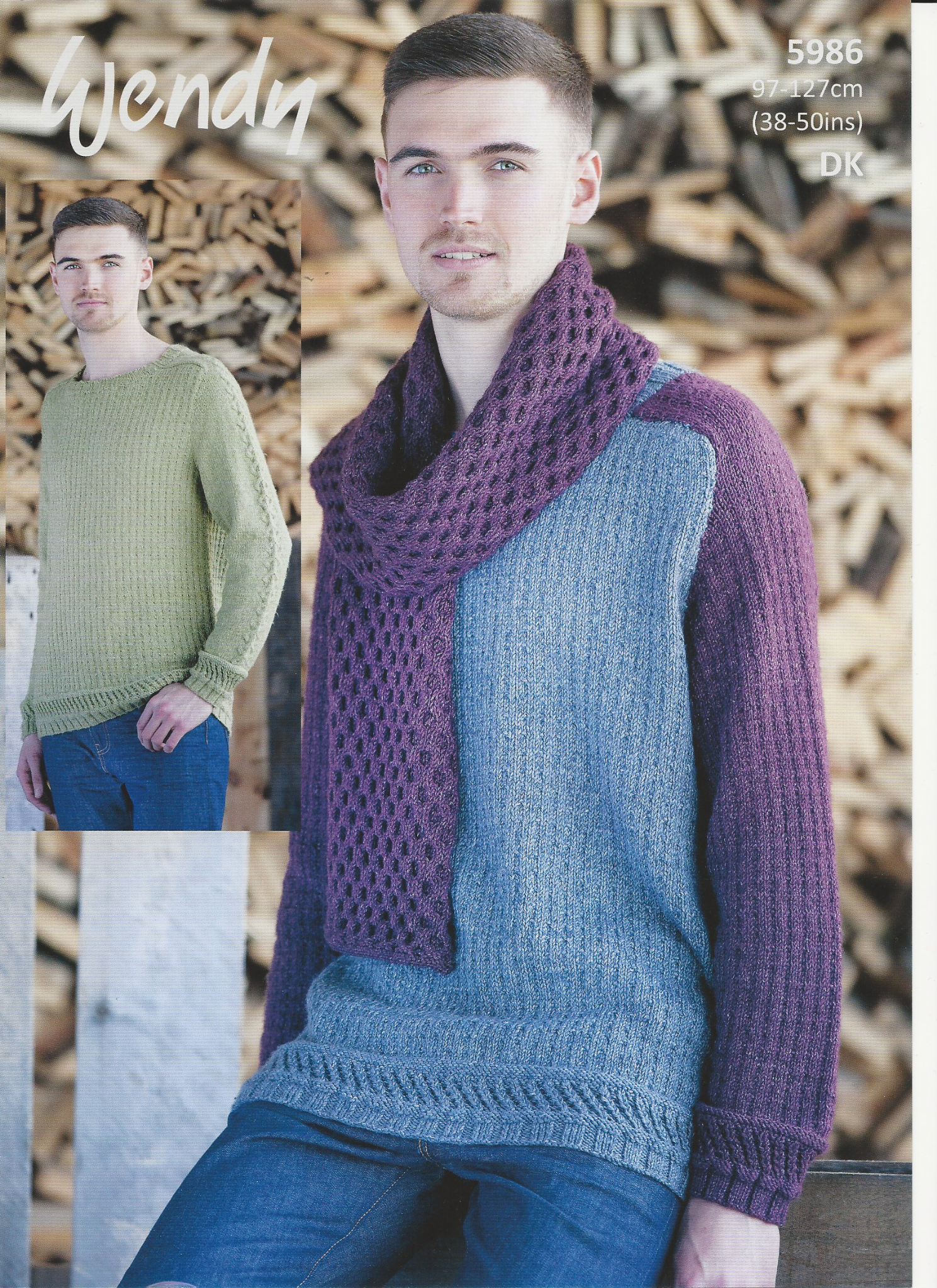 Knitting Pattern Mens Cardigan Wendy Mens Sweaters And Scarf Knitting Pattern In Pixile Dk 5986