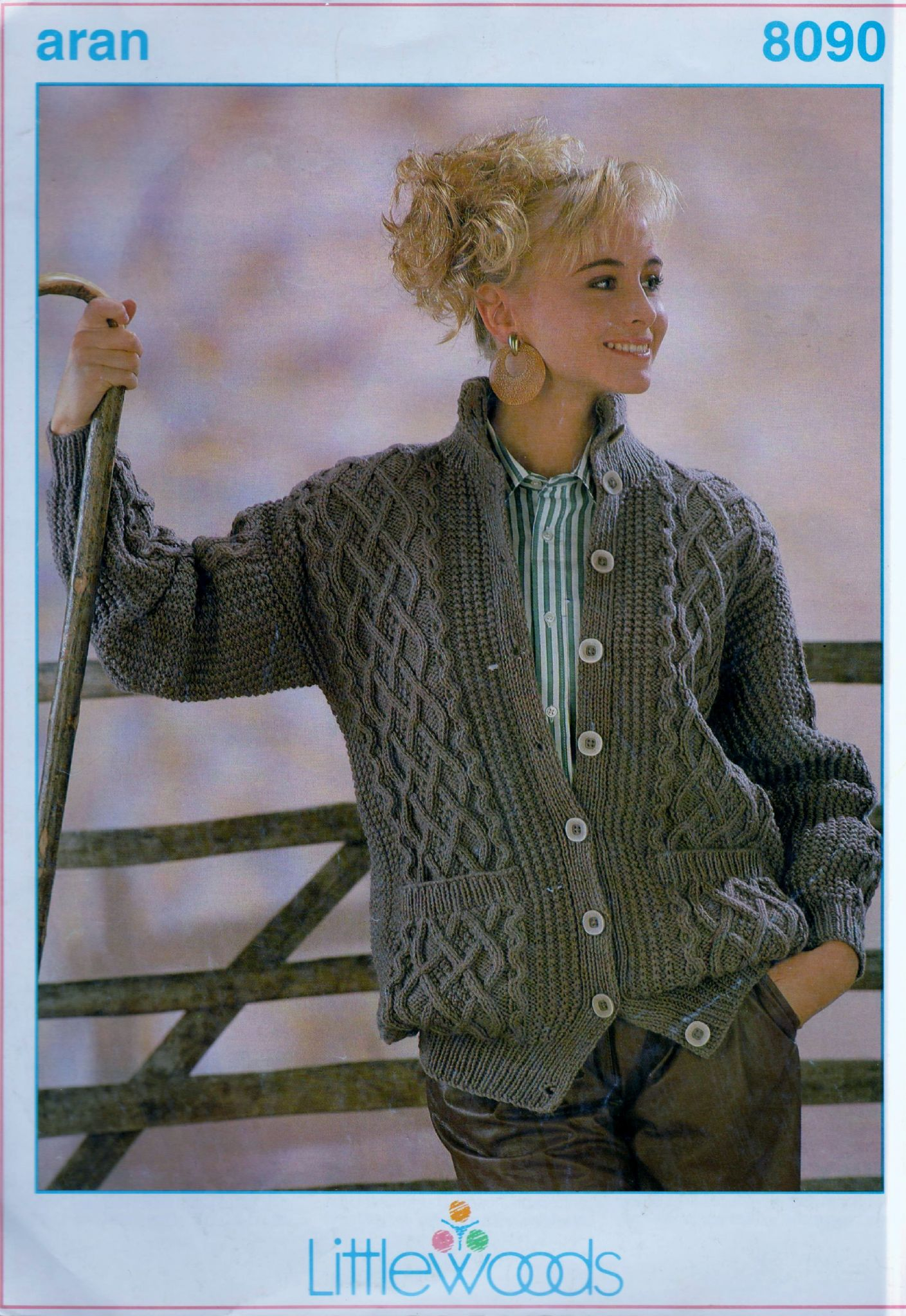 Knitting Patterns Aran Pdf Littlewoods 8090 Aran Knitting Pattern Ladies Cardigan Jacket Bust 32 42