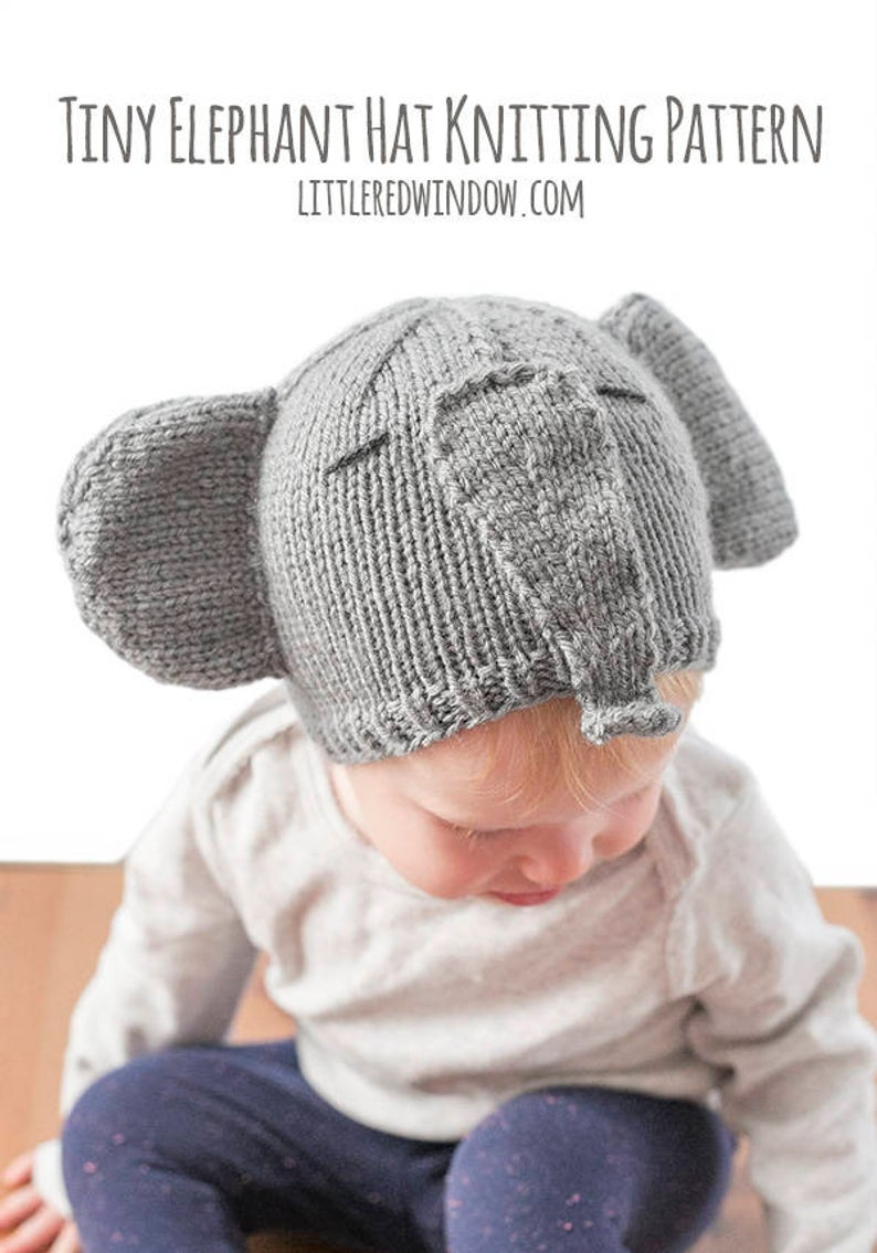 Knitting Patterns Baby Hat Ba Elephant Hat Knitting Pattern Elephant Pattern Ba Elephant Outfit Elephant Photo Prop Elephant Beanie Elephant Nursery