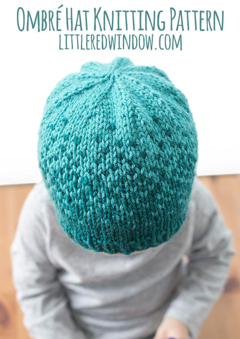 Knitting Patterns Baby Hat Ba Ombre Hat Knitting Pattern Fair Isle Pattern Ombre Knit Hat Ombre Hat Pattern Ombre Knitted Hat Gradient Yarnknit Pattern Ba