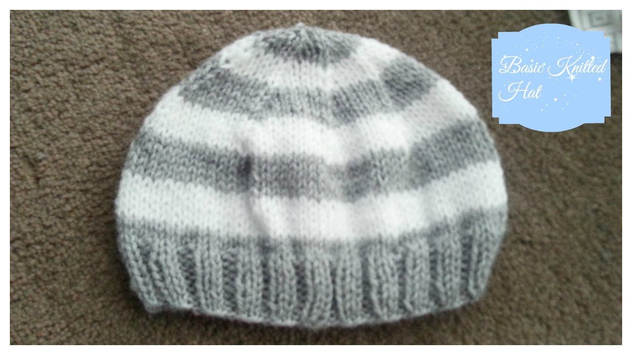 Knitting Patterns Baby Hat Basic Knitted Ba Hat 3 6 Months