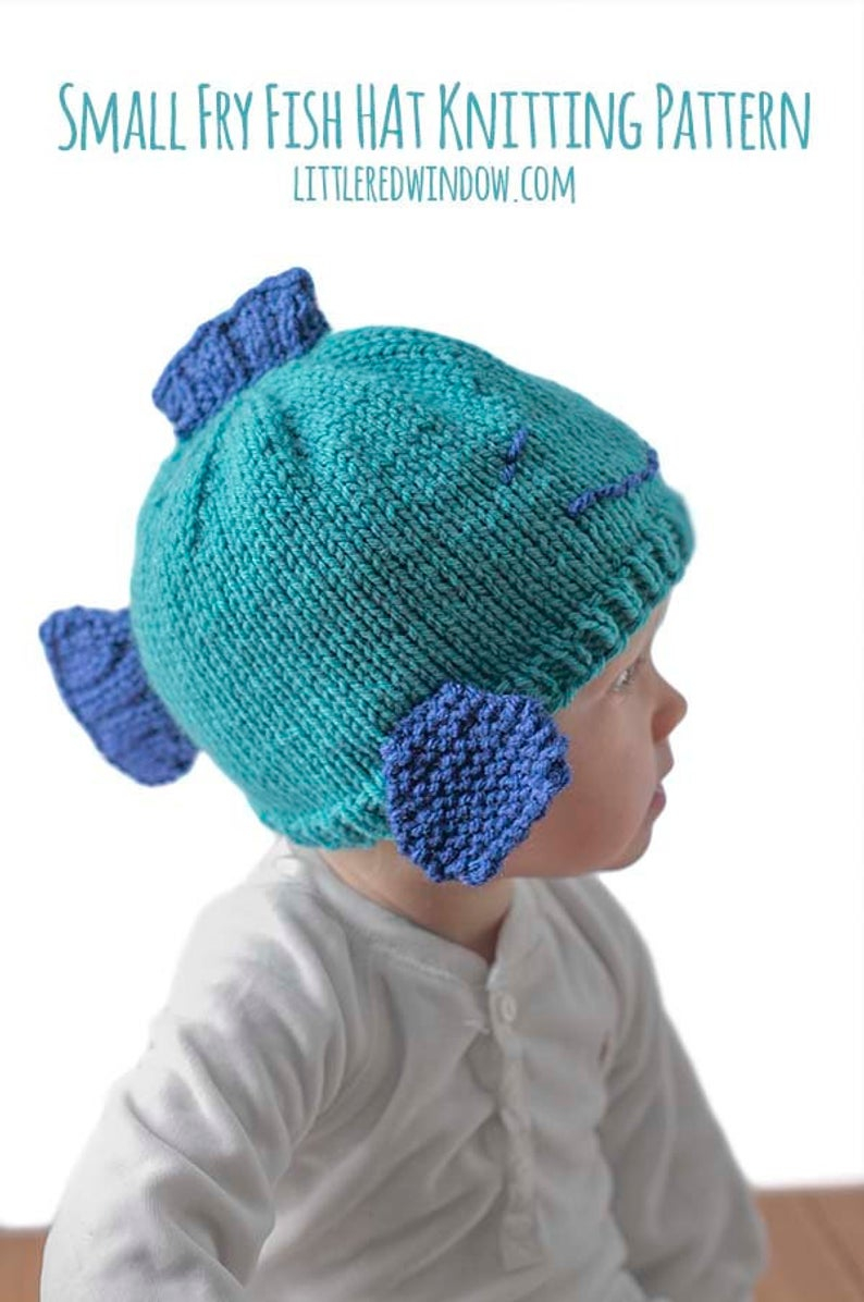 Knitting Patterns Baby Hat Fish Hat Knitting Pattern Fish Hat Pattern Ba Fish Hat Small Fry Ba Fishing Hat Knitted Fish Patternfish Beaniefish Ba Hat