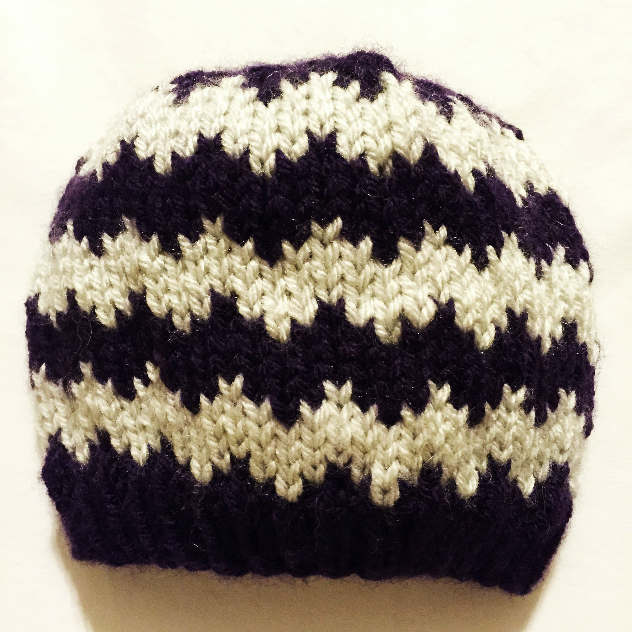 Knitting Patterns Baby Hat Free Knitting Pattern Quick Knit Chevron Ba Hat Pinss Needles